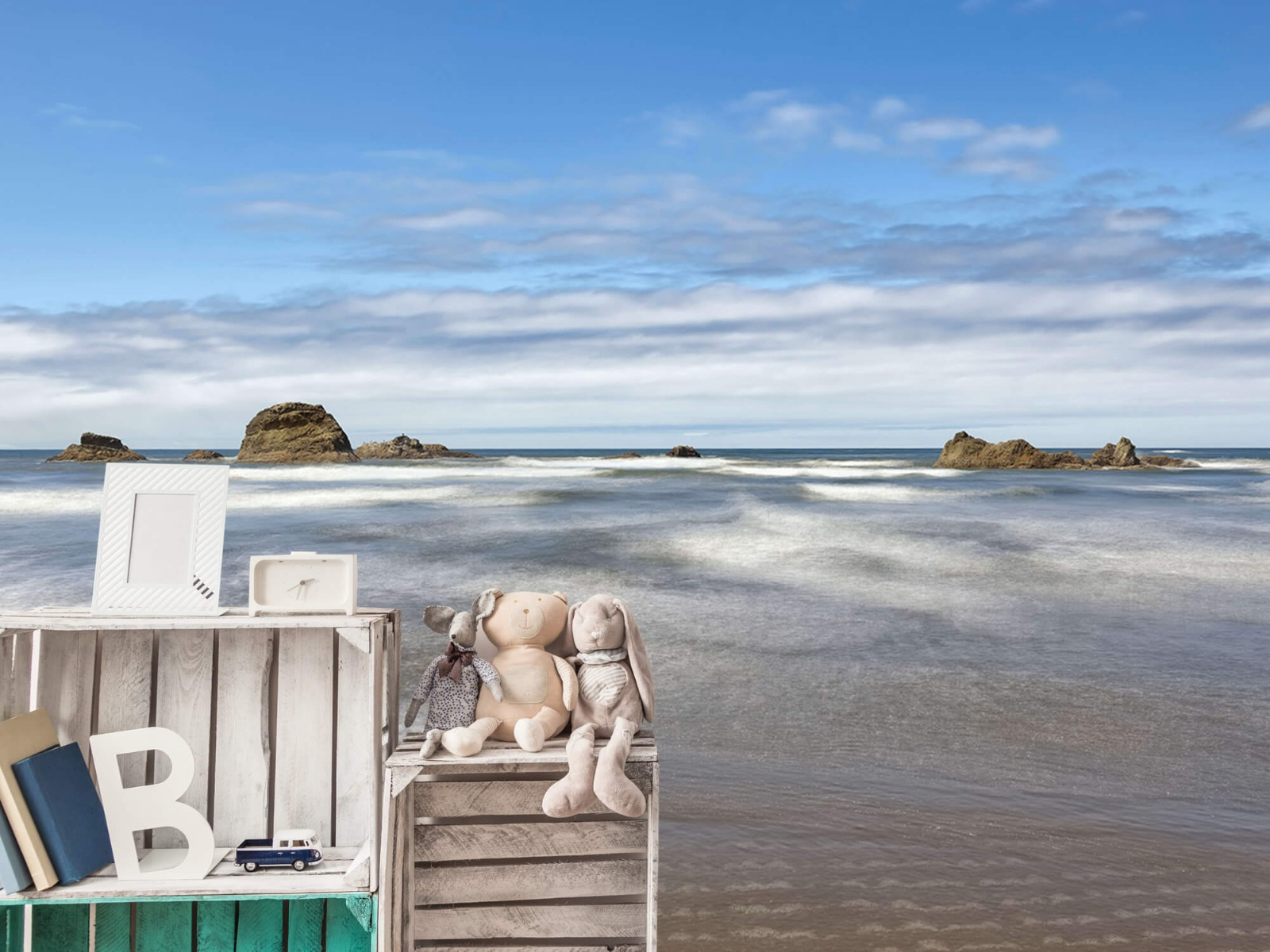 Zeeën en Oceanen - Strand met rotsen - Slaapkamer 21