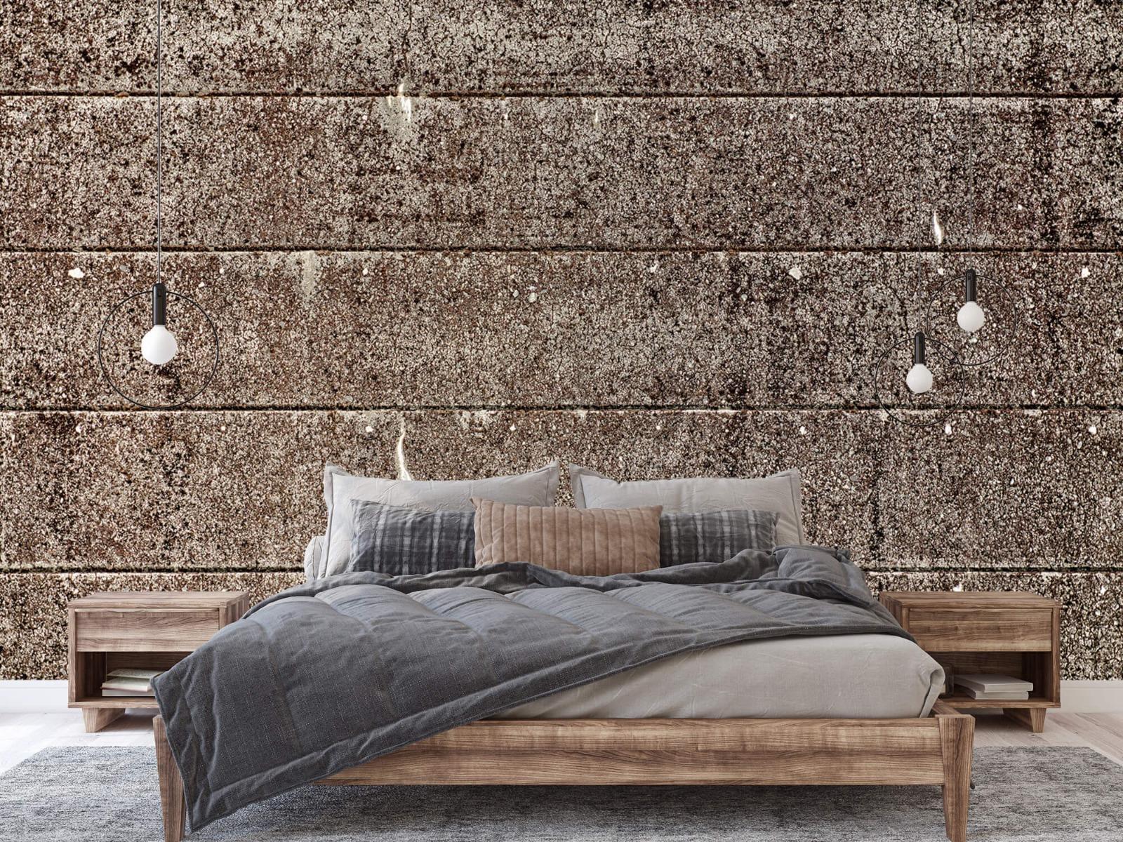 Steen behang - Oude betonnen damwand - Tienerkamer 3