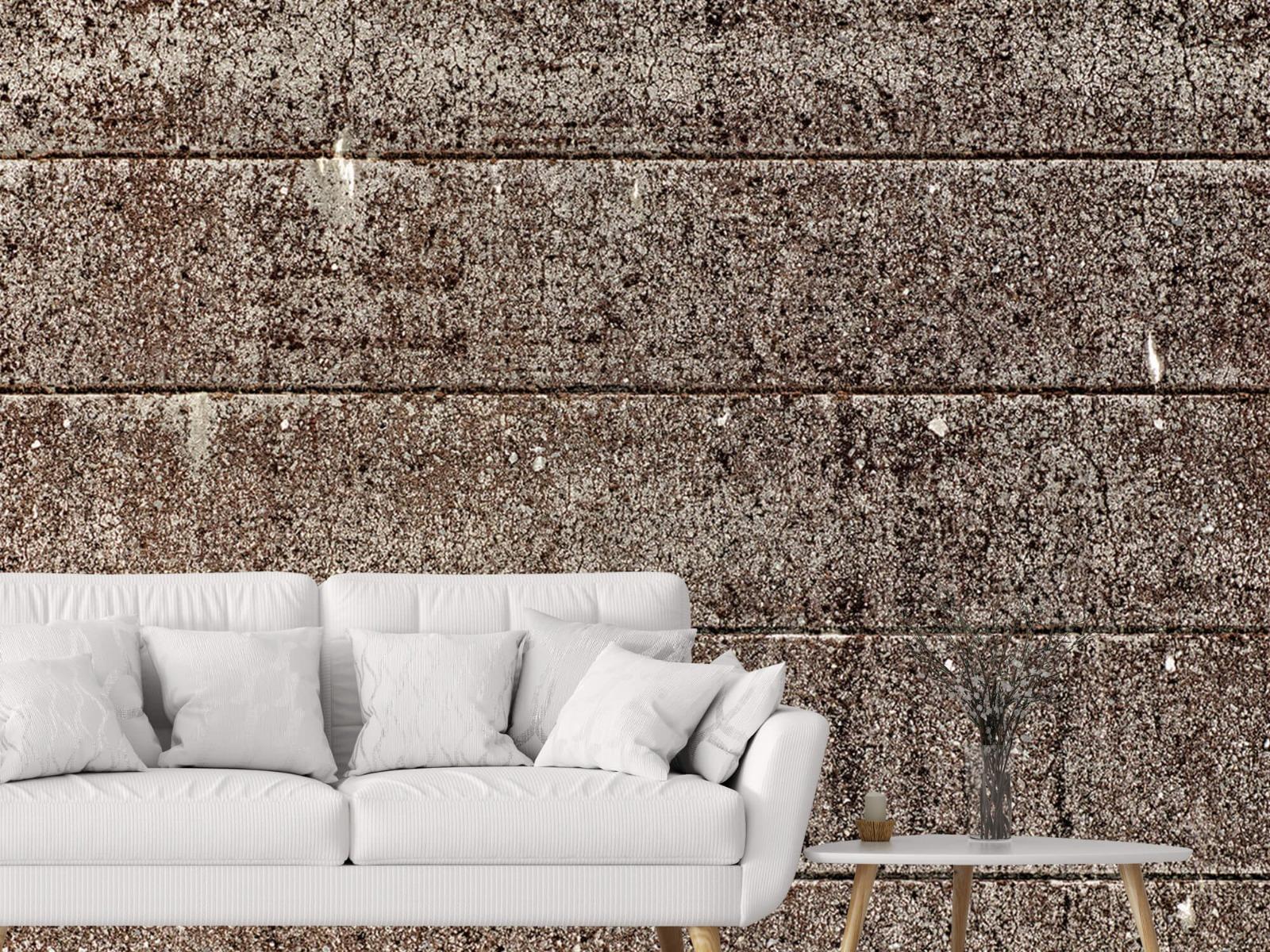 Steen behang - Oude betonnen damwand - Tienerkamer 1