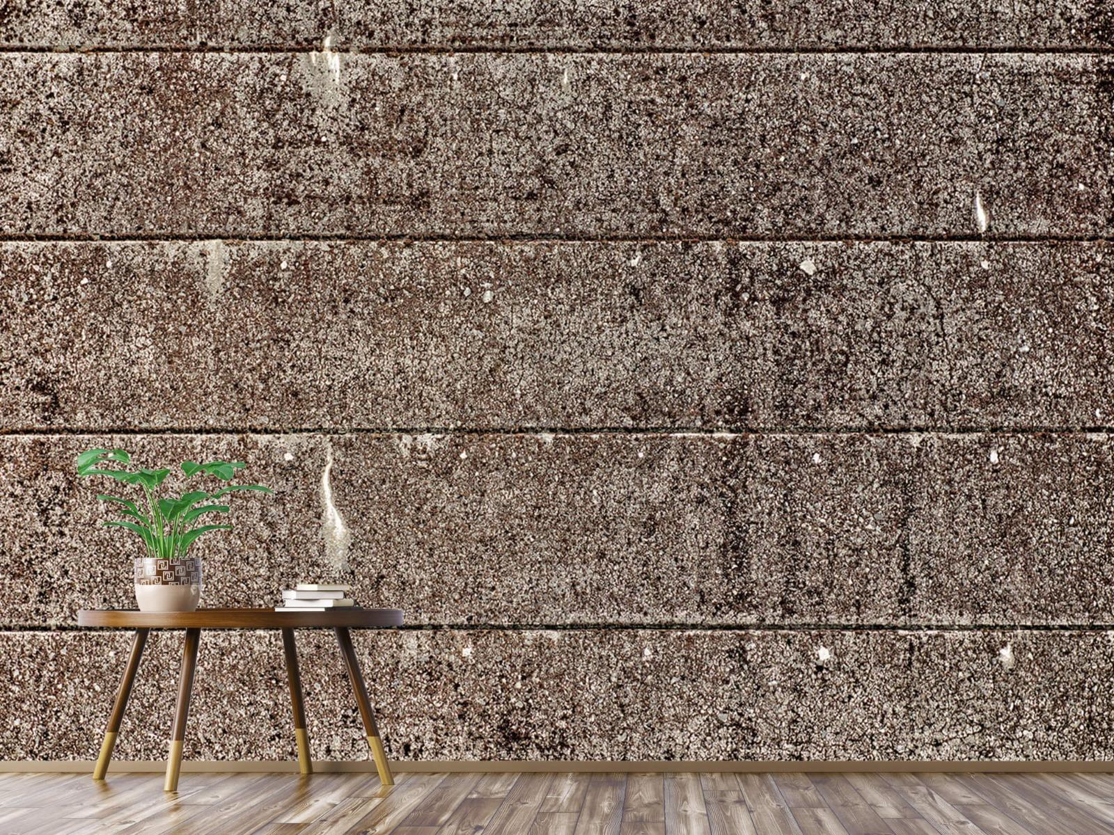Steen behang - Oude betonnen damwand - Tienerkamer 5