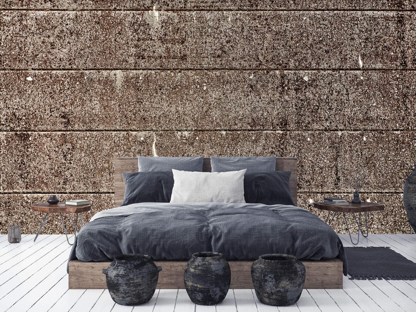 Steen behang - Oude betonnen damwand - Tienerkamer 7