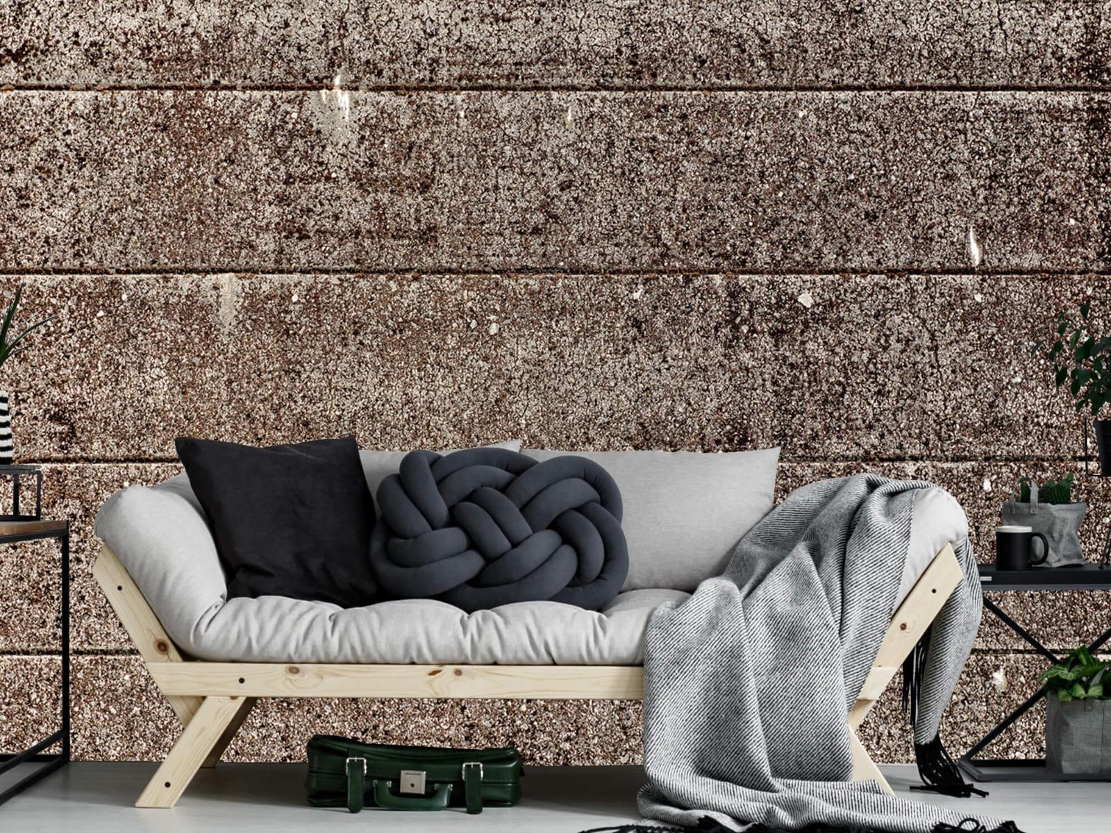 Steen behang - Oude betonnen damwand - Tienerkamer 8