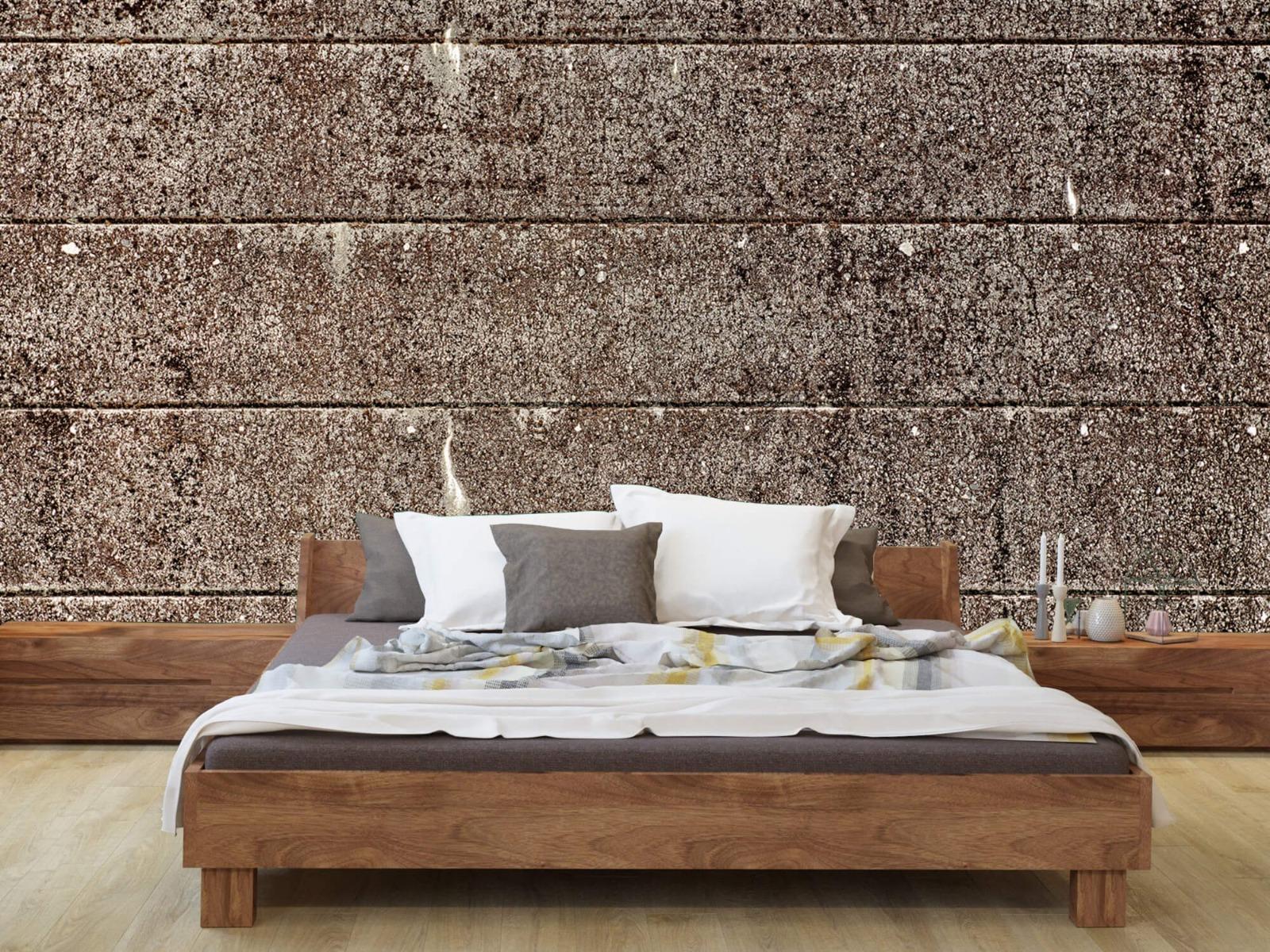 Steen behang - Oude betonnen damwand - Tienerkamer 9