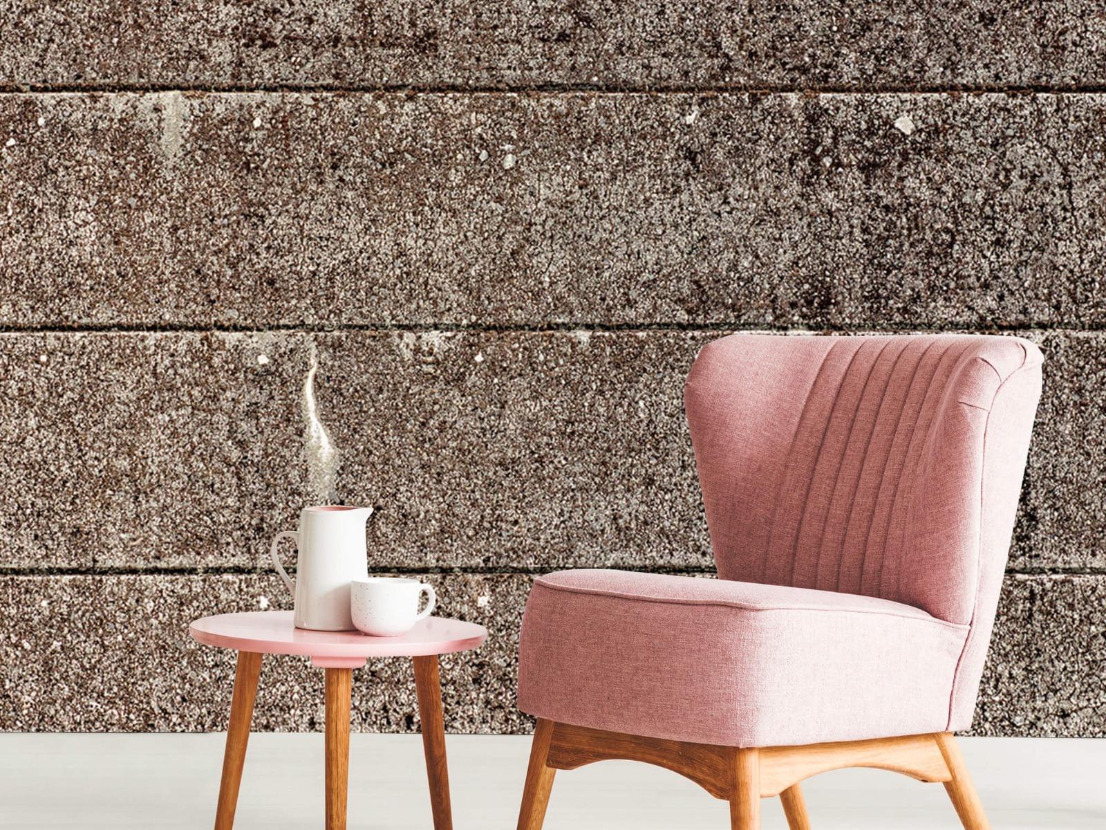 Steen behang - Oude betonnen damwand - Tienerkamer 10