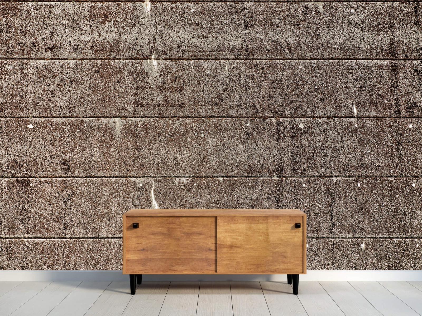 Steen behang - Oude betonnen damwand - Tienerkamer 11