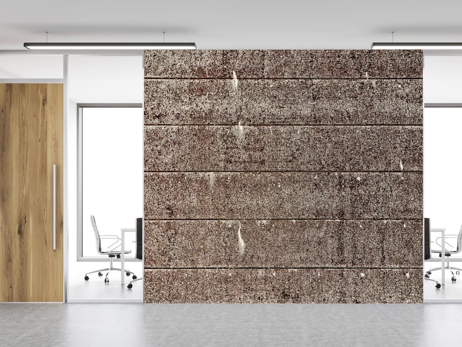 Steen behang - Oude betonnen damwand - Tienerkamer 4