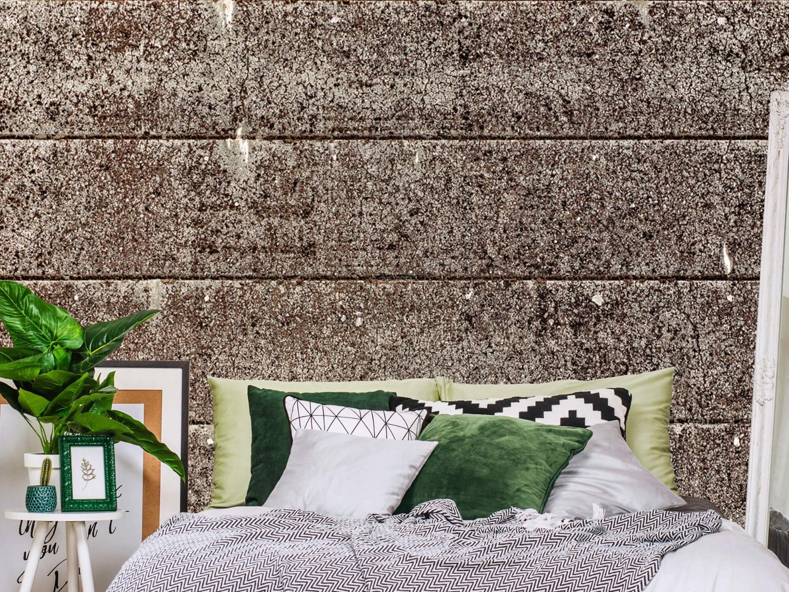 Steen behang - Oude betonnen damwand - Tienerkamer 13