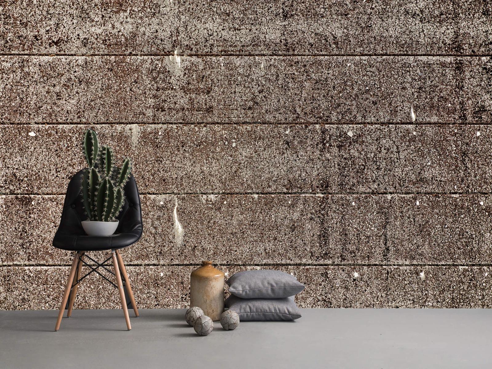Steen behang - Oude betonnen damwand - Tienerkamer 14