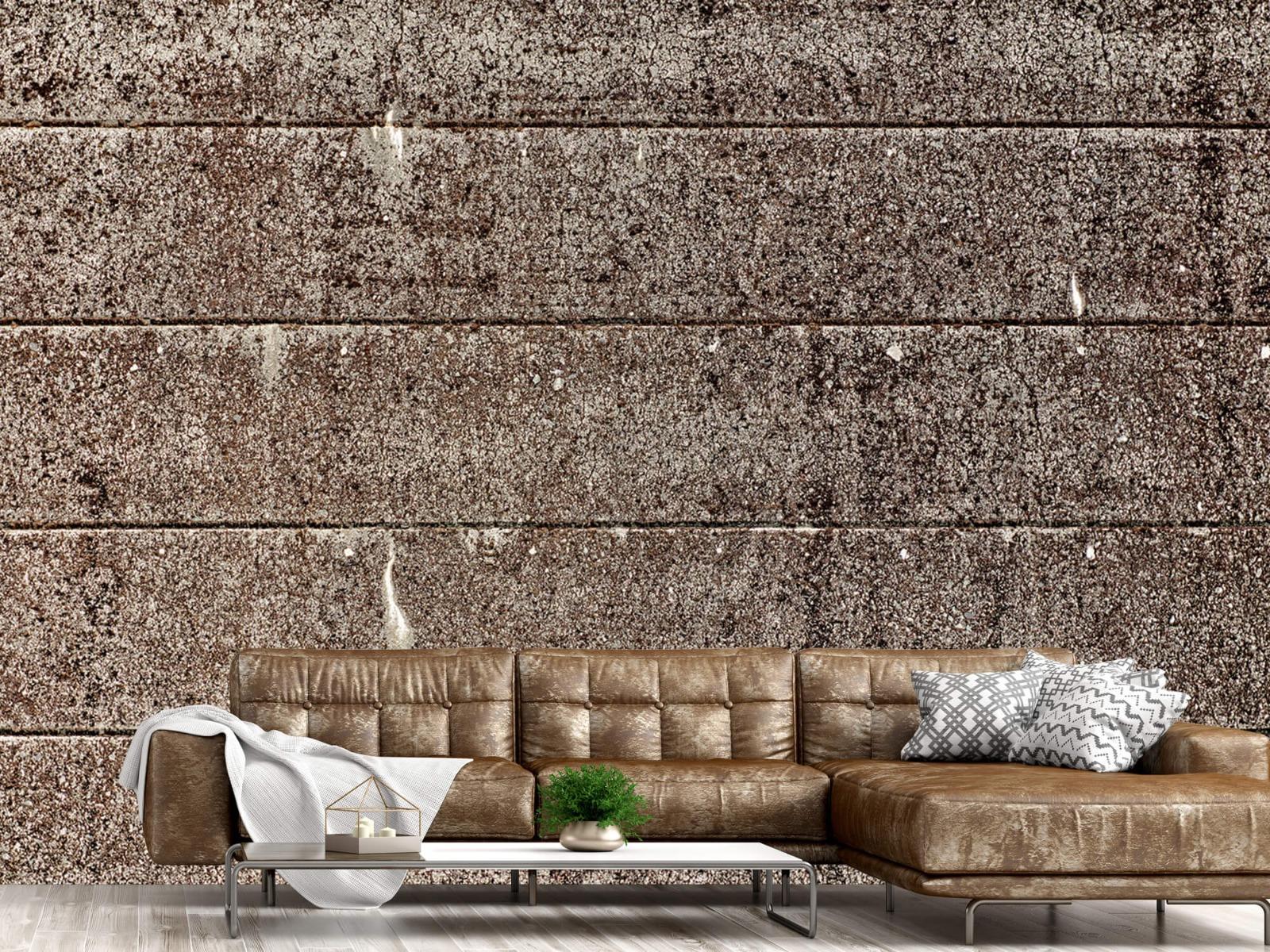 Steen behang - Oude betonnen damwand - Tienerkamer 15