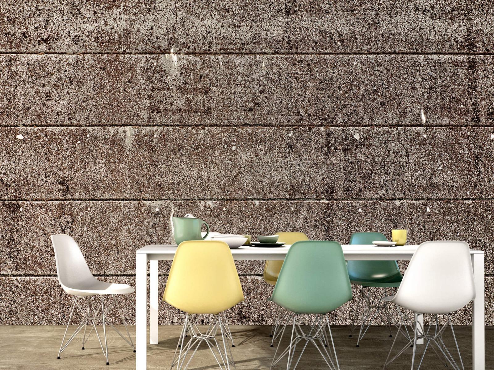 Steen behang - Oude betonnen damwand - Tienerkamer 16