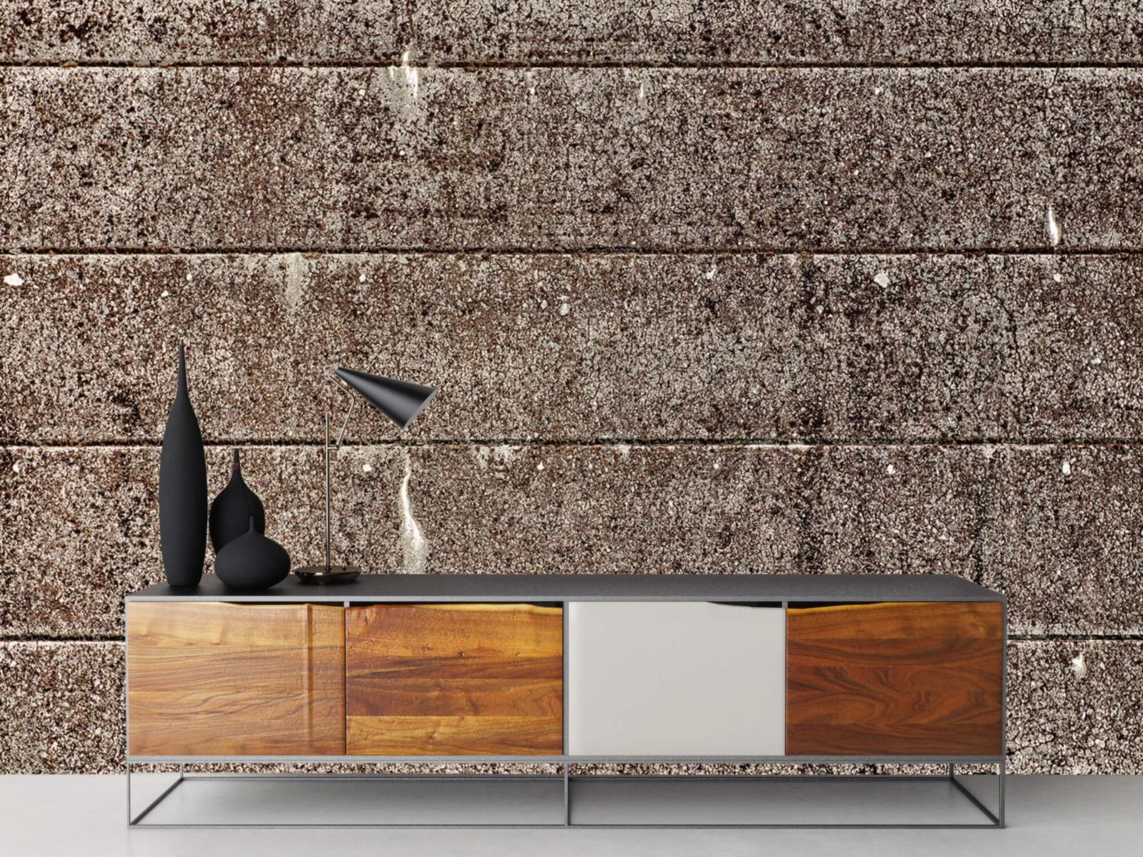 Steen behang - Oude betonnen damwand - Tienerkamer 2