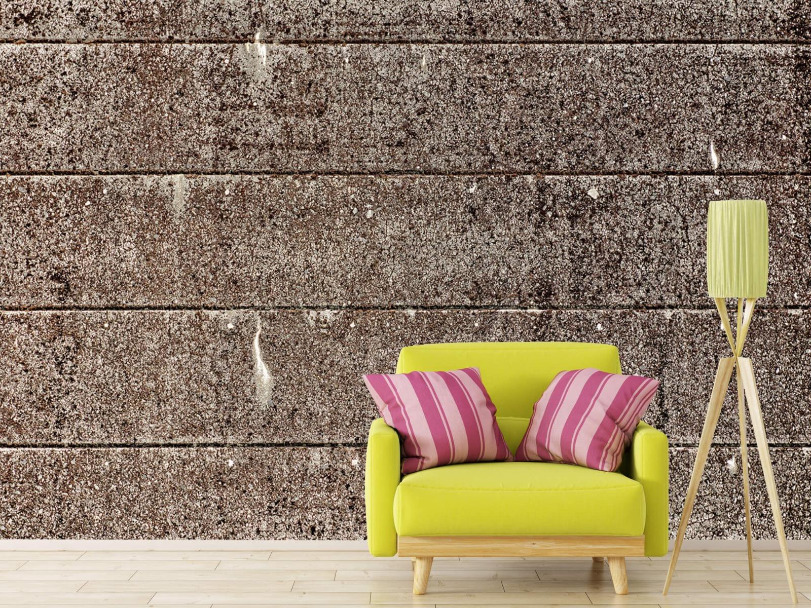 Steen behang - Oude betonnen damwand - Tienerkamer 17