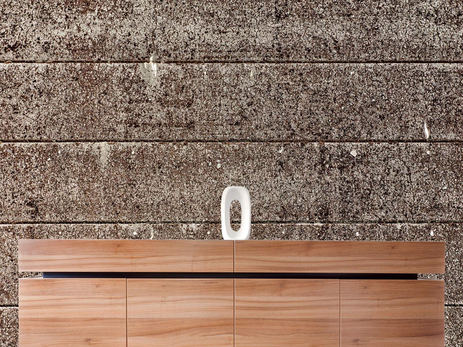 Steen behang - Oude betonnen damwand - Tienerkamer 20