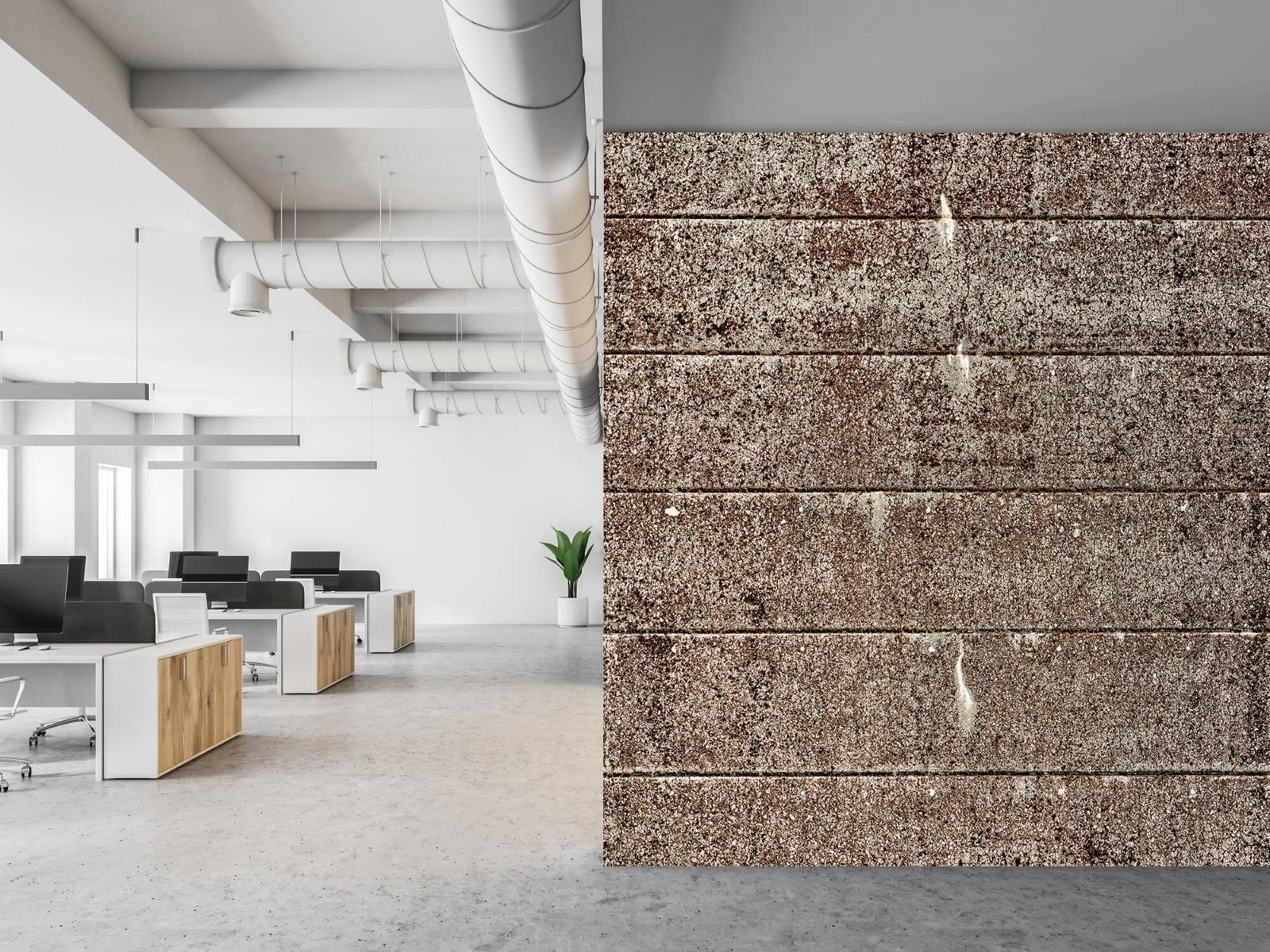 Steen behang - Oude betonnen damwand - Tienerkamer 21