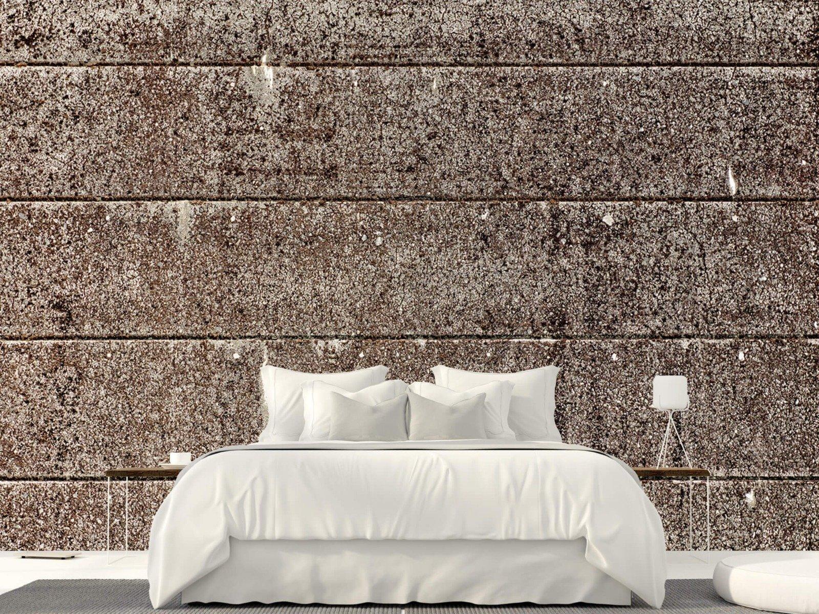 Steen behang - Oude betonnen damwand - Tienerkamer 22