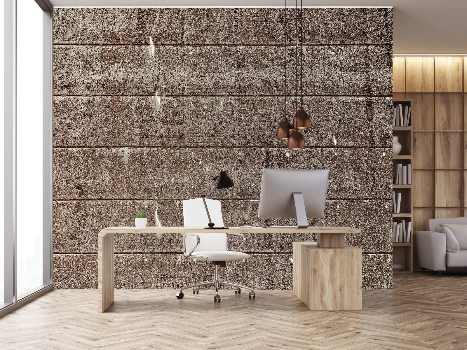 Steen behang - Oude betonnen damwand - Tienerkamer 23