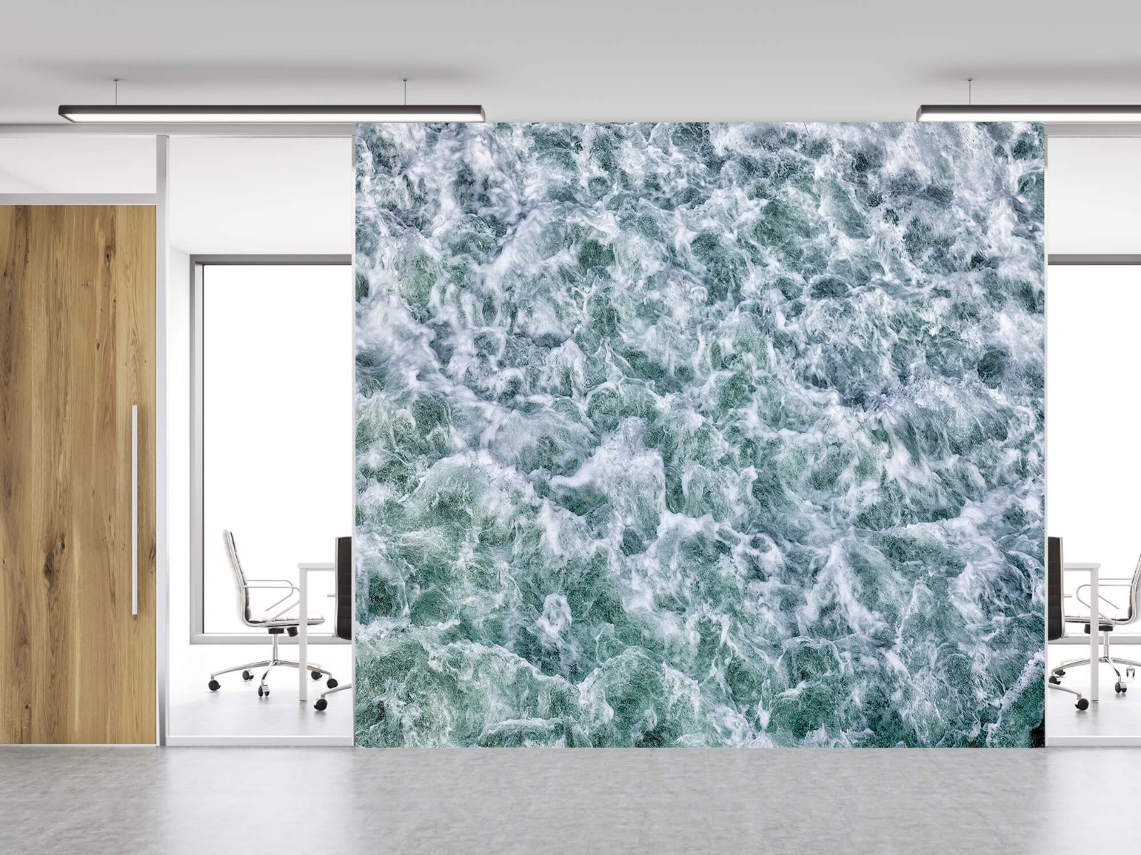 Zeeën en Oceanen - Wild kolkend water - Keuken 3