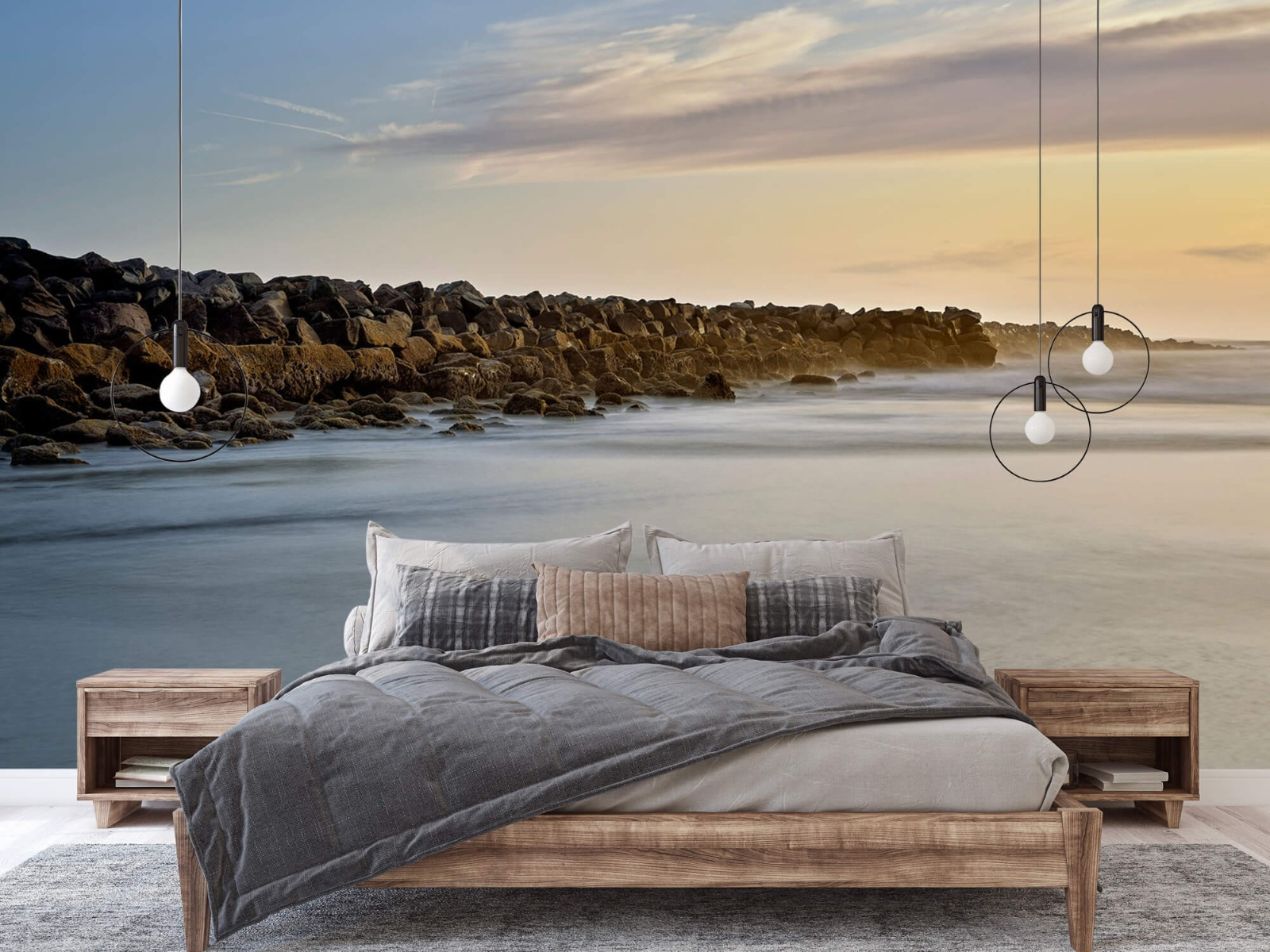 Landschap - Grote stenen aan het strand - Slaapkamer 1