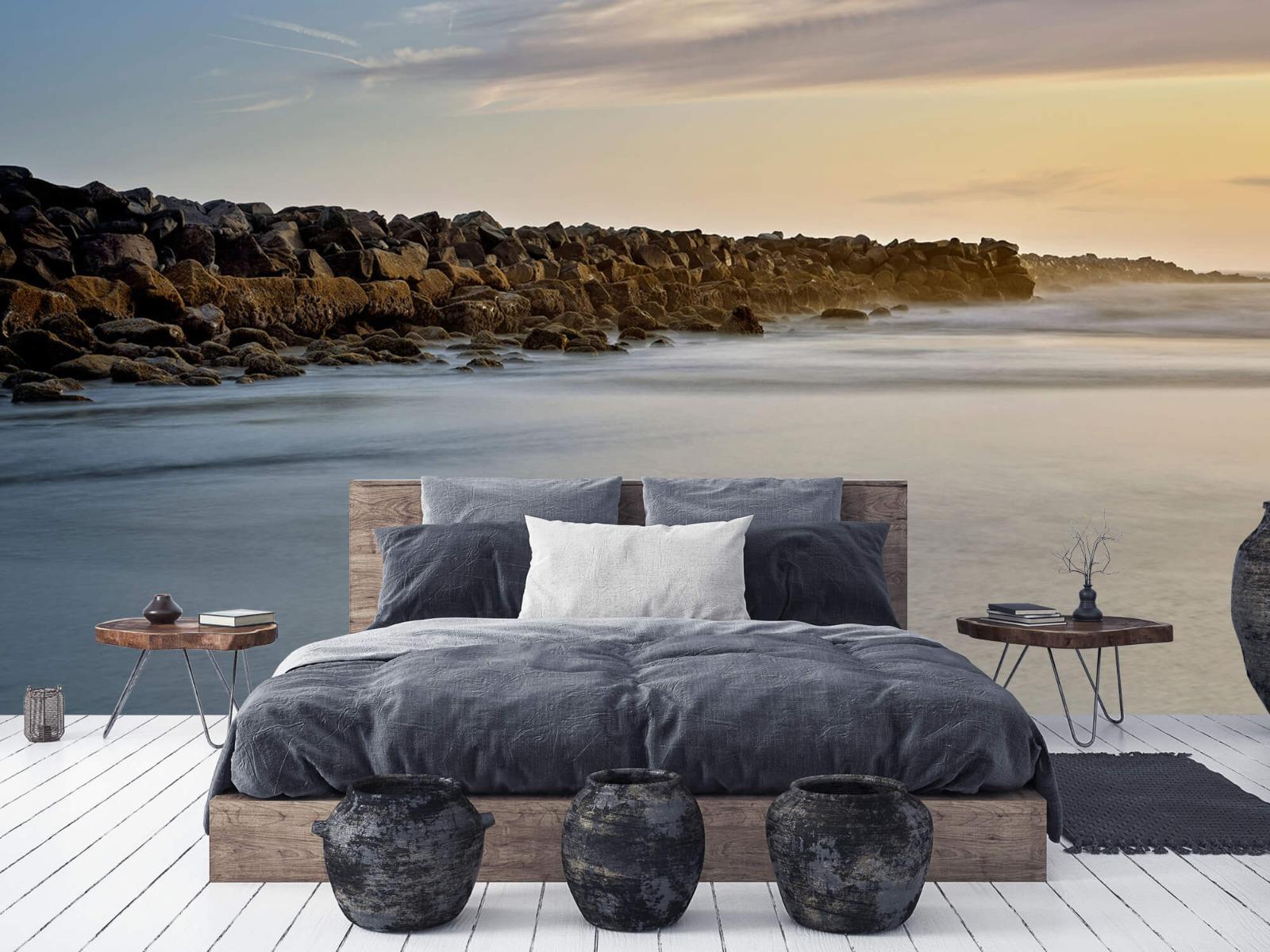 Landschap - Grote stenen aan het strand - Slaapkamer 5