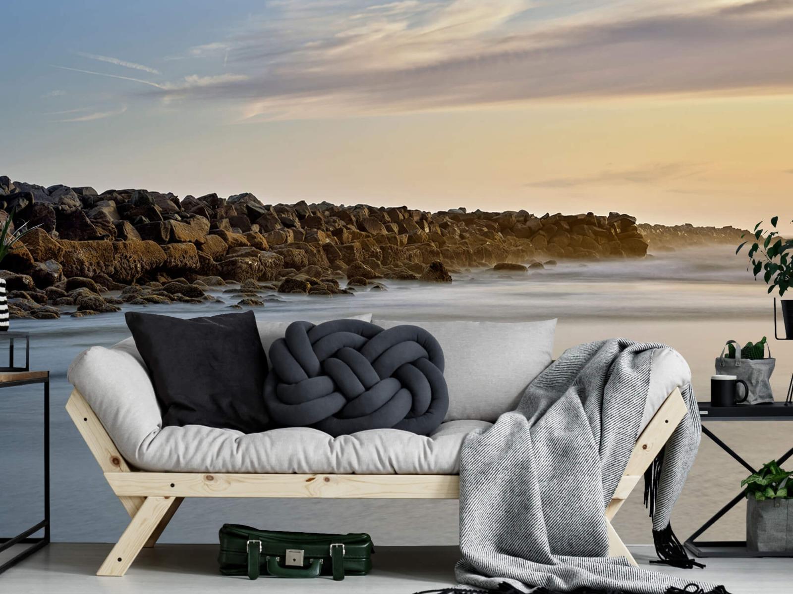Landschap - Grote stenen aan het strand - Slaapkamer 6