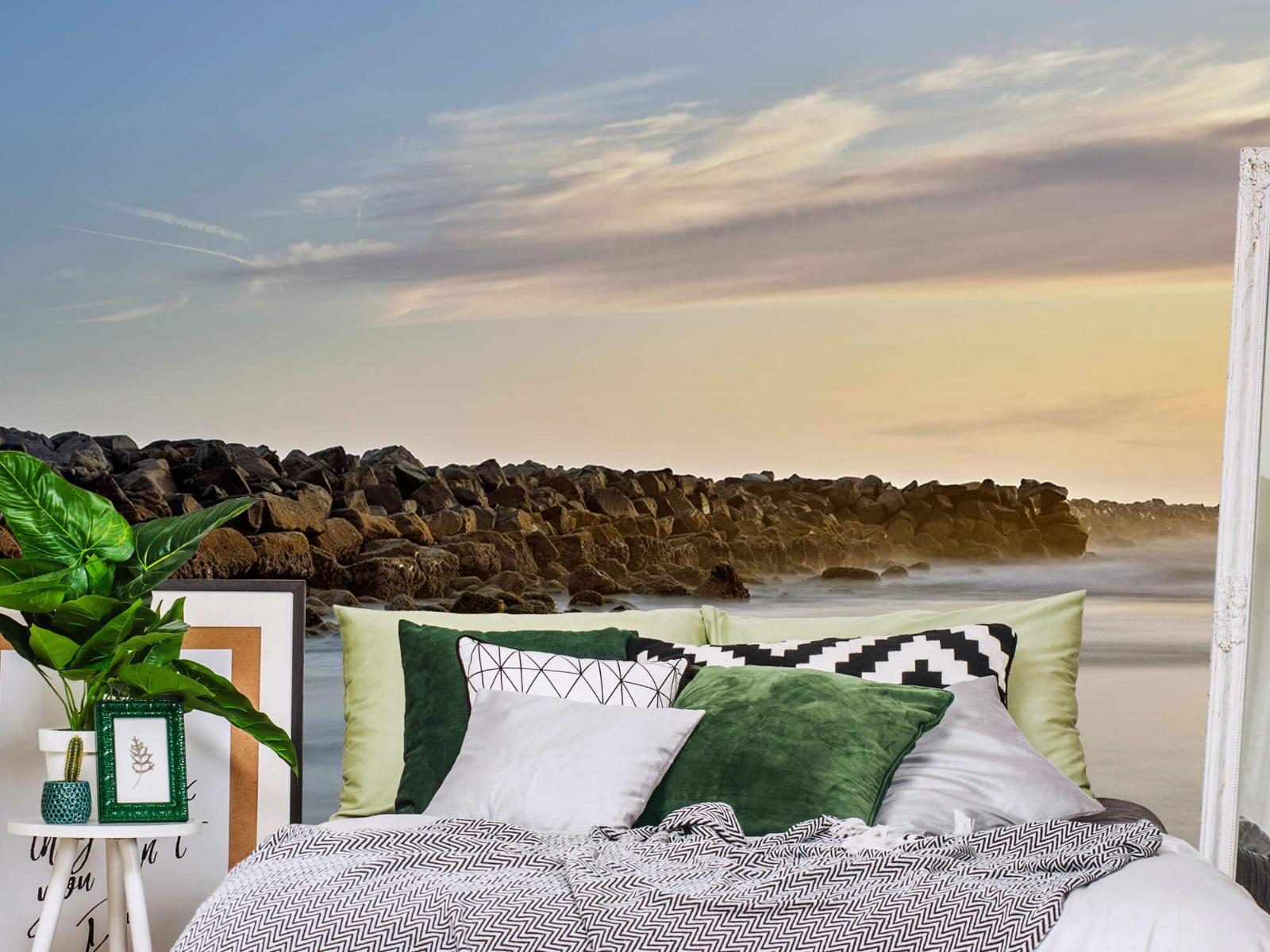 Landschap - Grote stenen aan het strand - Slaapkamer 12
