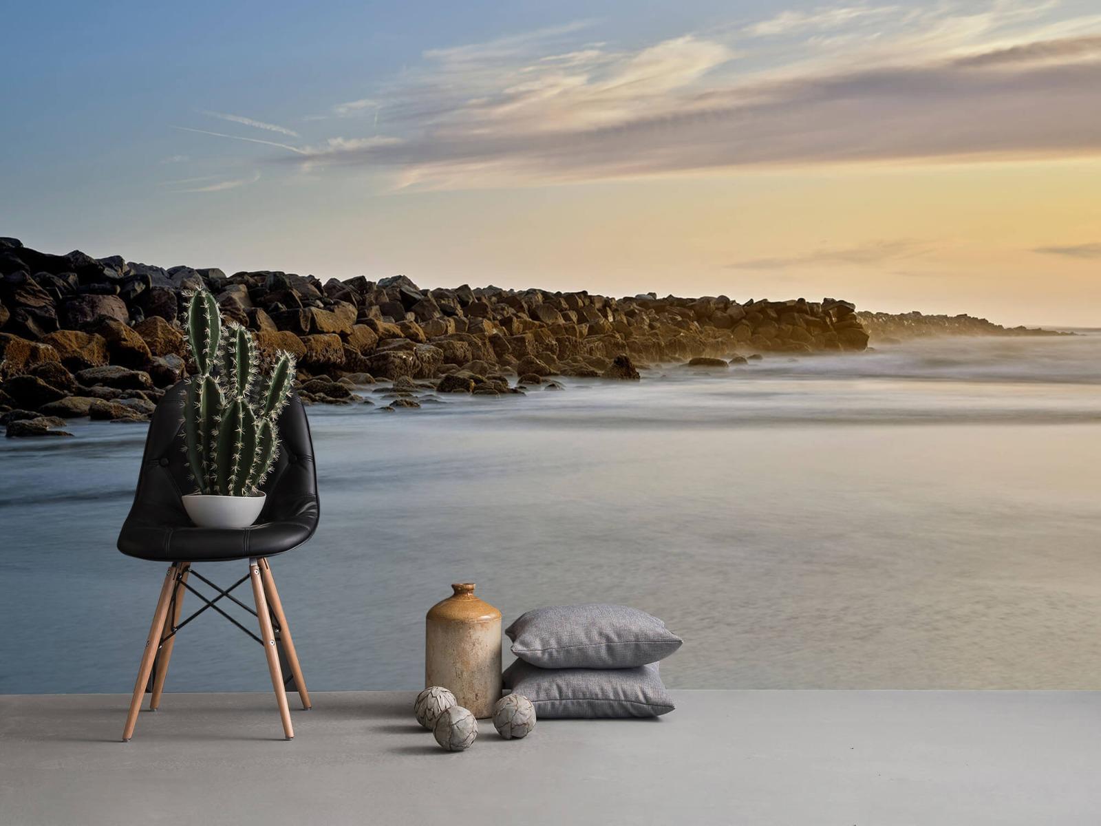 Landschap - Grote stenen aan het strand - Slaapkamer 13