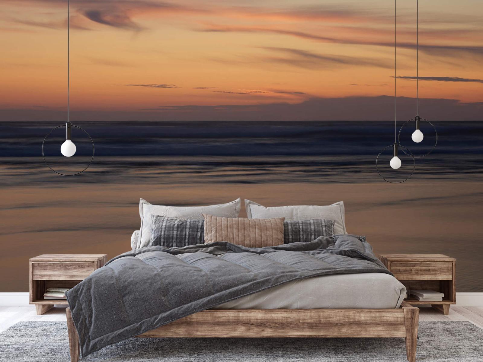 Zeeën en Oceanen - Zonsondergang aan de kust - Slaapkamer 1