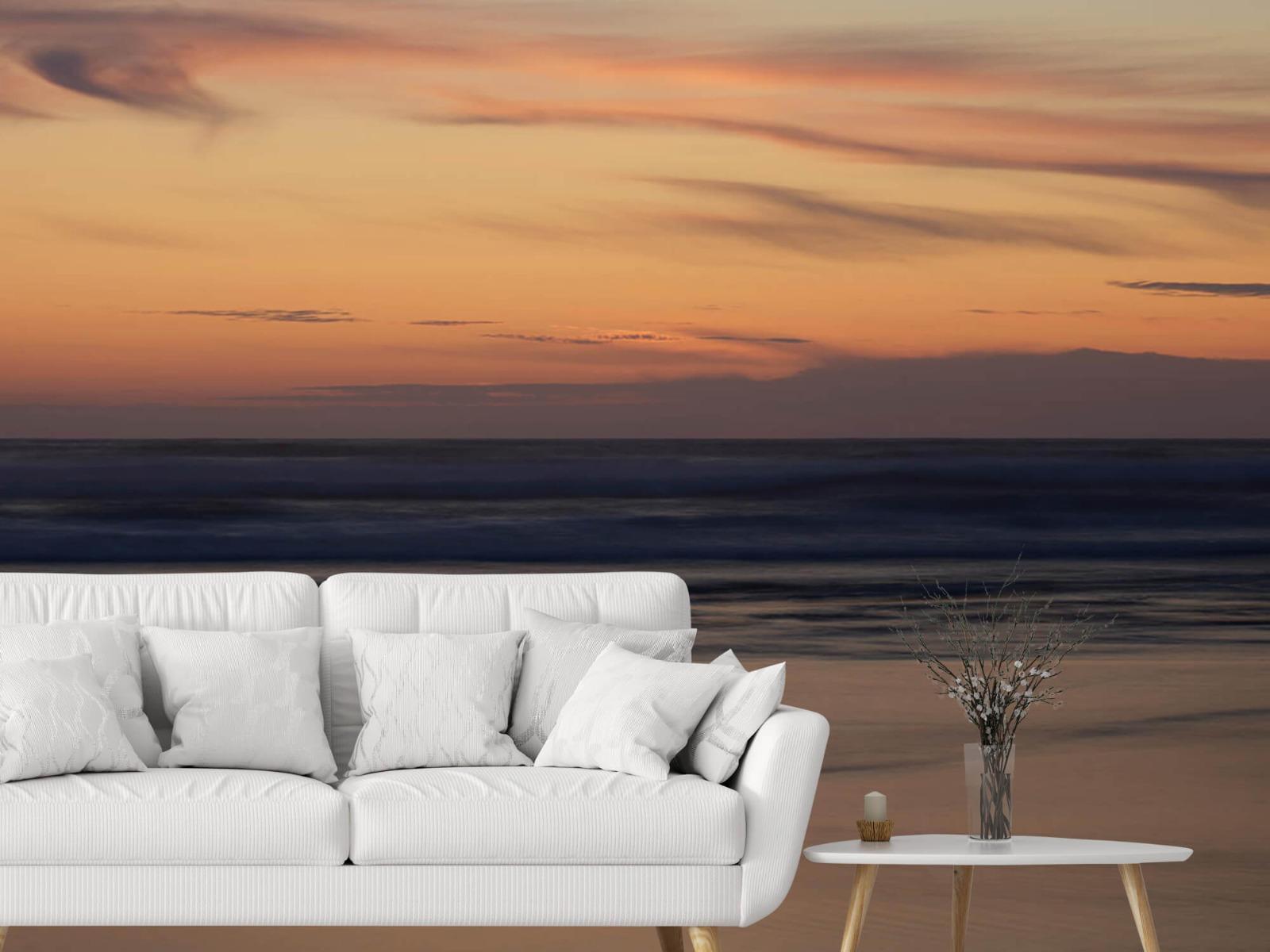 Zeeën en Oceanen - Zonsondergang aan de kust - Slaapkamer 2