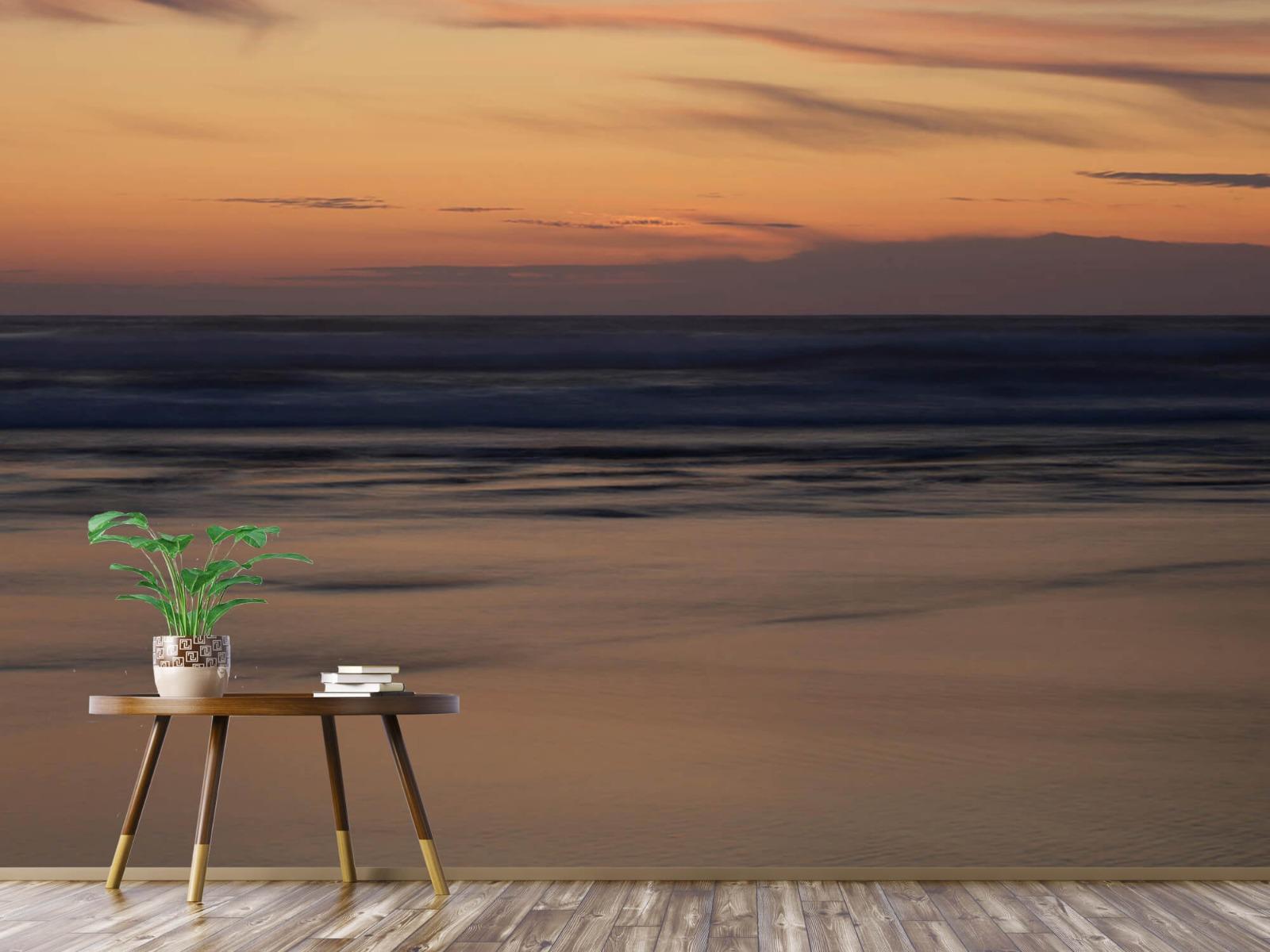 Zeeën en Oceanen - Zonsondergang aan de kust - Slaapkamer 3