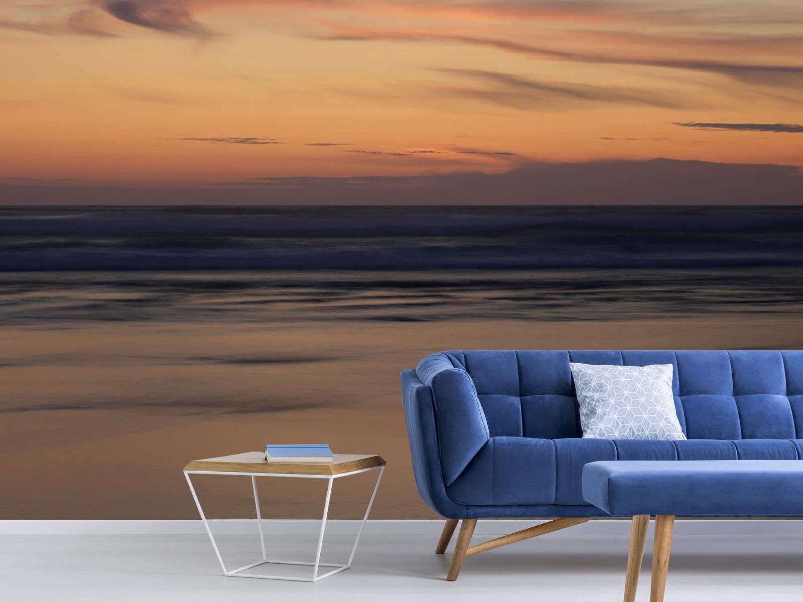 Zeeën en Oceanen - Zonsondergang aan de kust - Slaapkamer 4