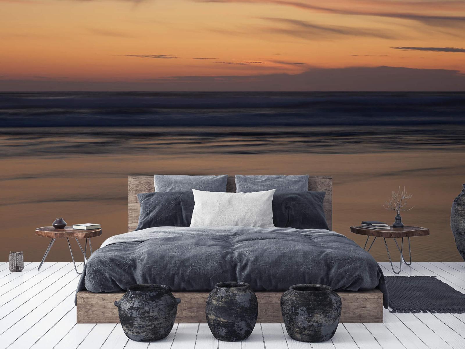 Zeeën en Oceanen - Zonsondergang aan de kust - Slaapkamer 5