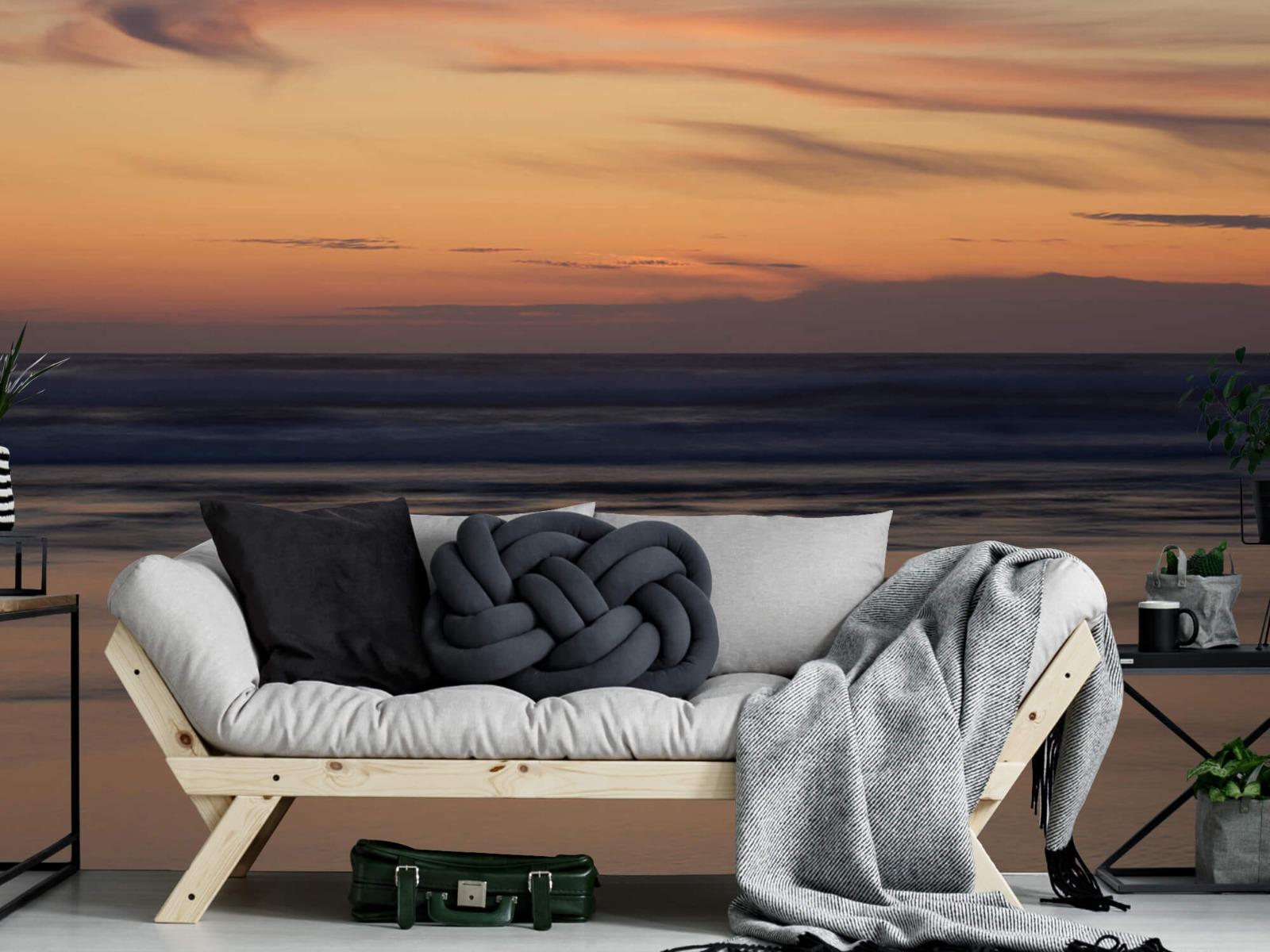 Zeeën en Oceanen - Zonsondergang aan de kust - Slaapkamer 6
