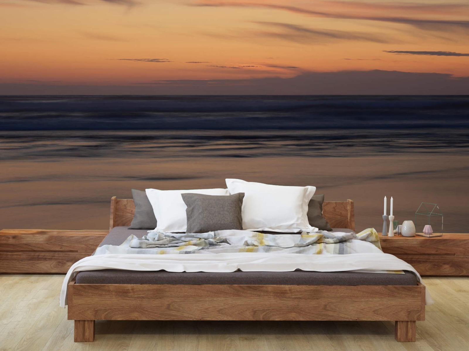 Zeeën en Oceanen - Zonsondergang aan de kust - Slaapkamer 7