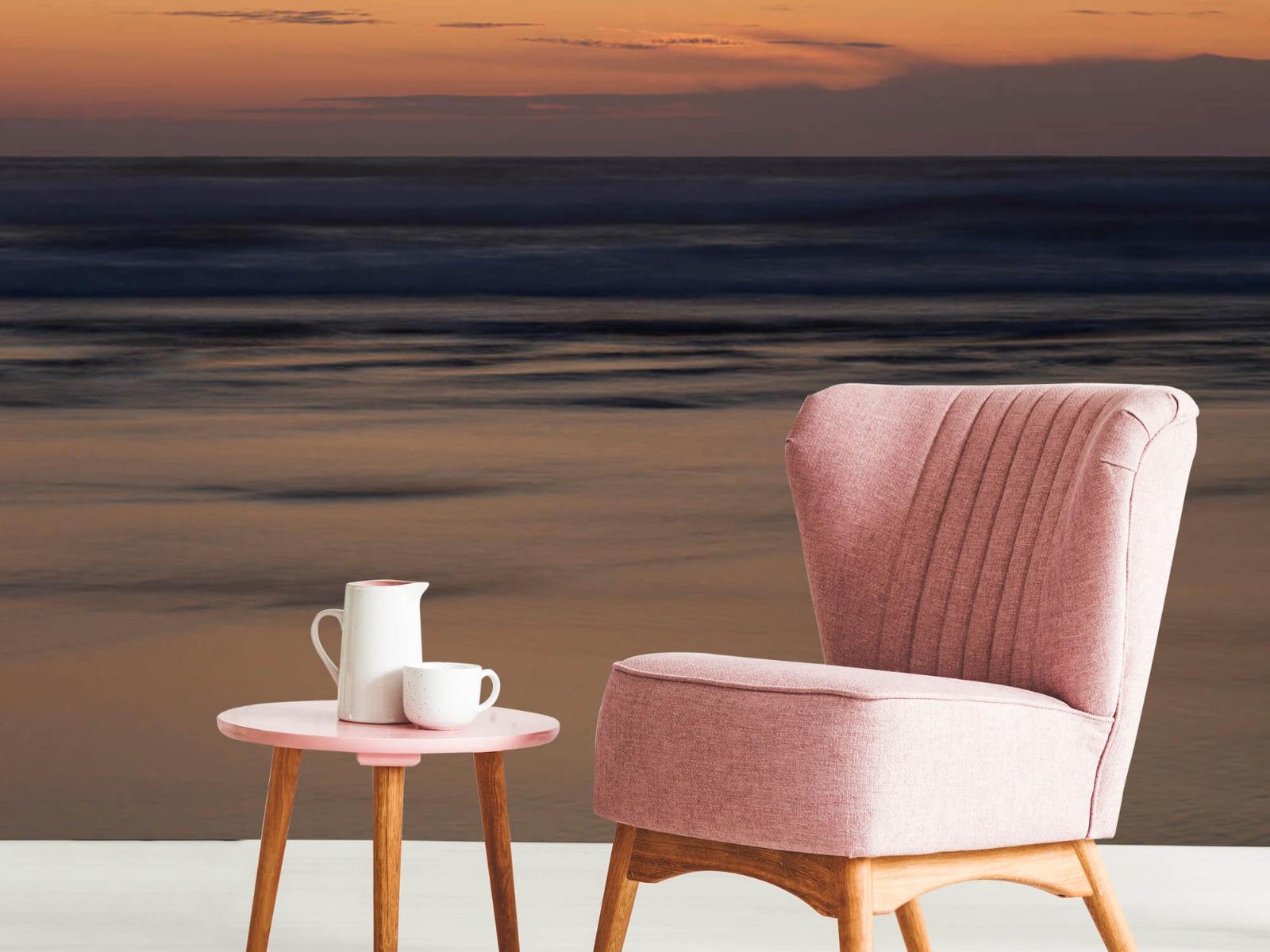 Zeeën en Oceanen - Zonsondergang aan de kust - Slaapkamer 8