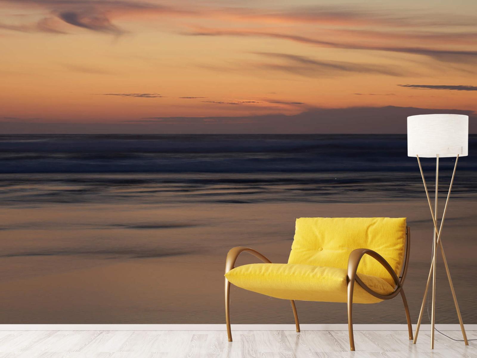 Zeeën en Oceanen - Zonsondergang aan de kust - Slaapkamer 10