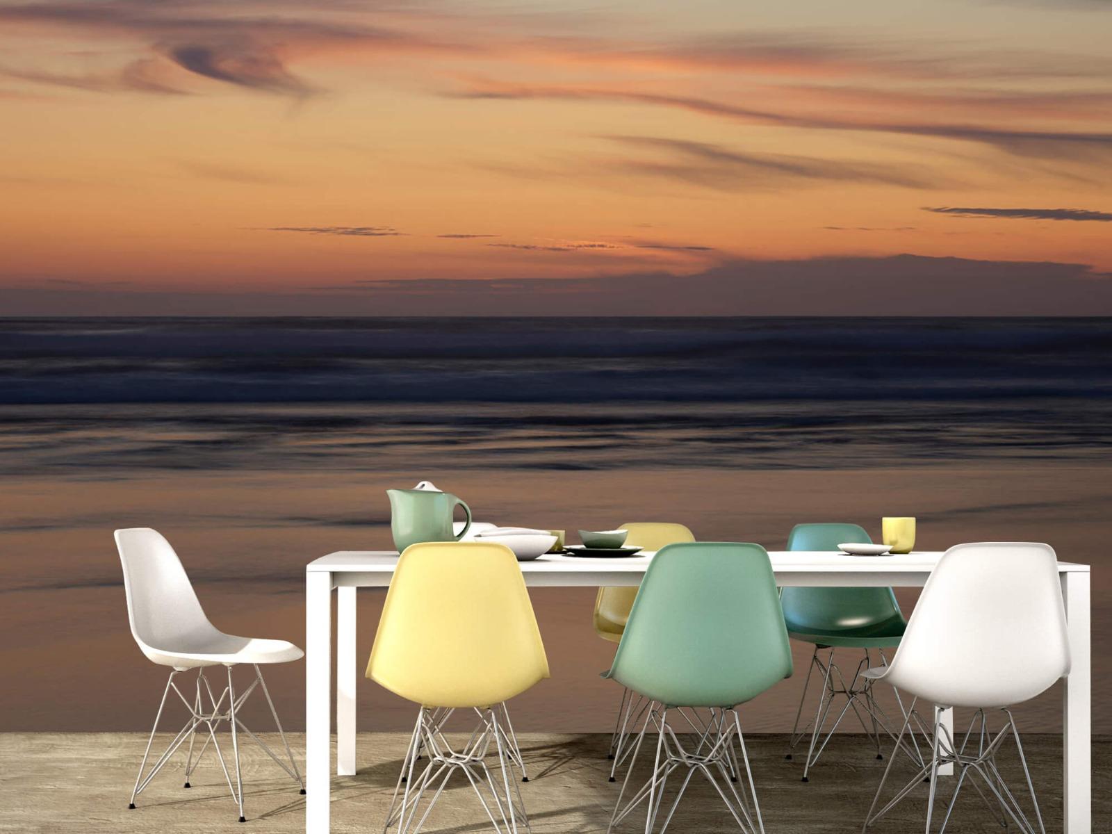 Zeeën en Oceanen - Zonsondergang aan de kust - Slaapkamer 15