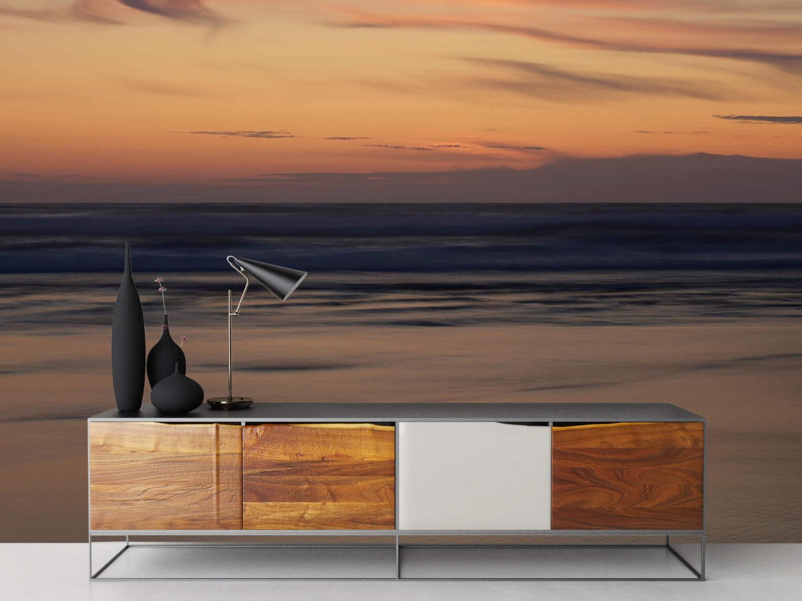 Zeeën en Oceanen - Zonsondergang aan de kust - Slaapkamer 16