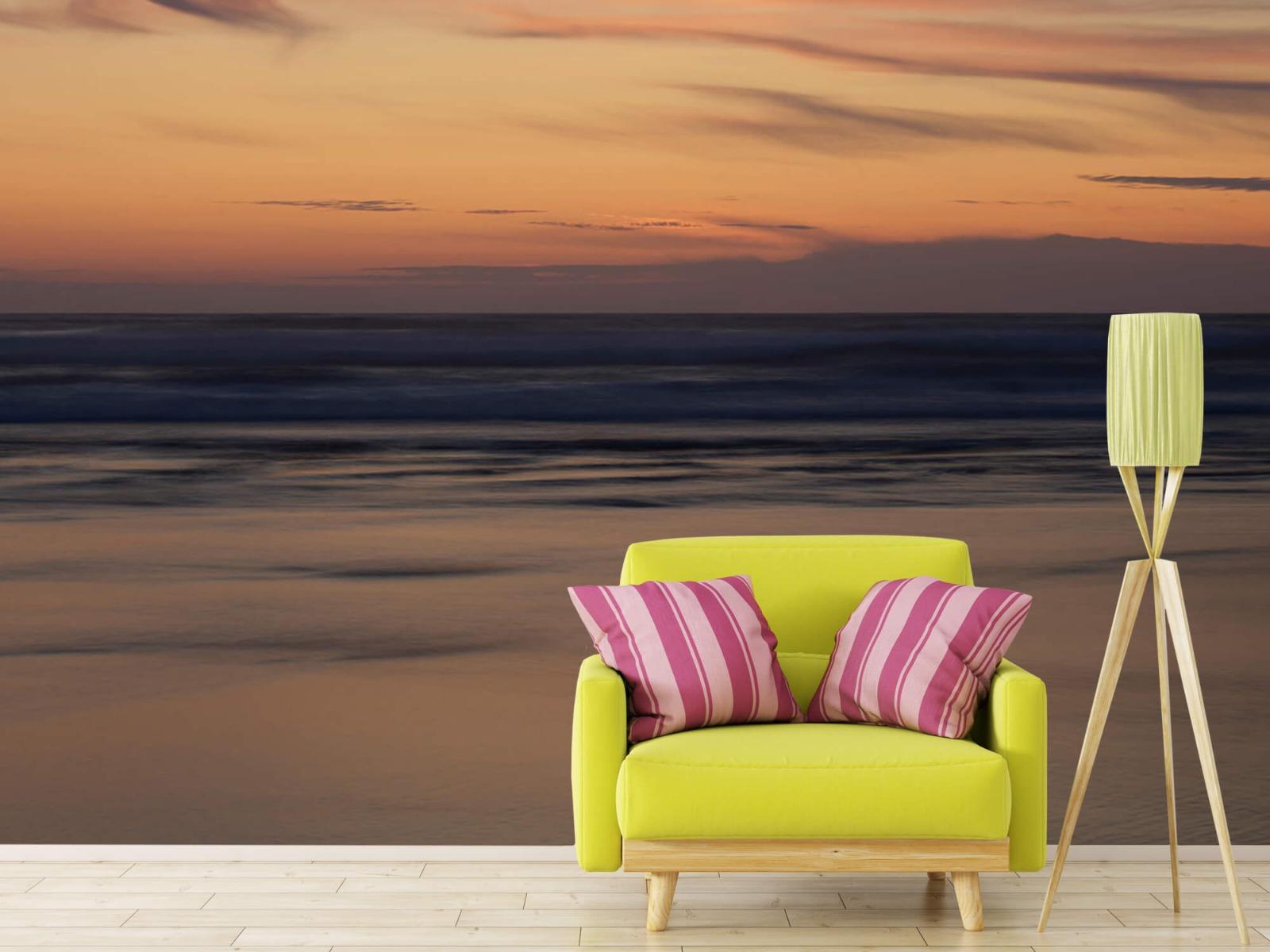 Zeeën en Oceanen - Zonsondergang aan de kust - Slaapkamer 17