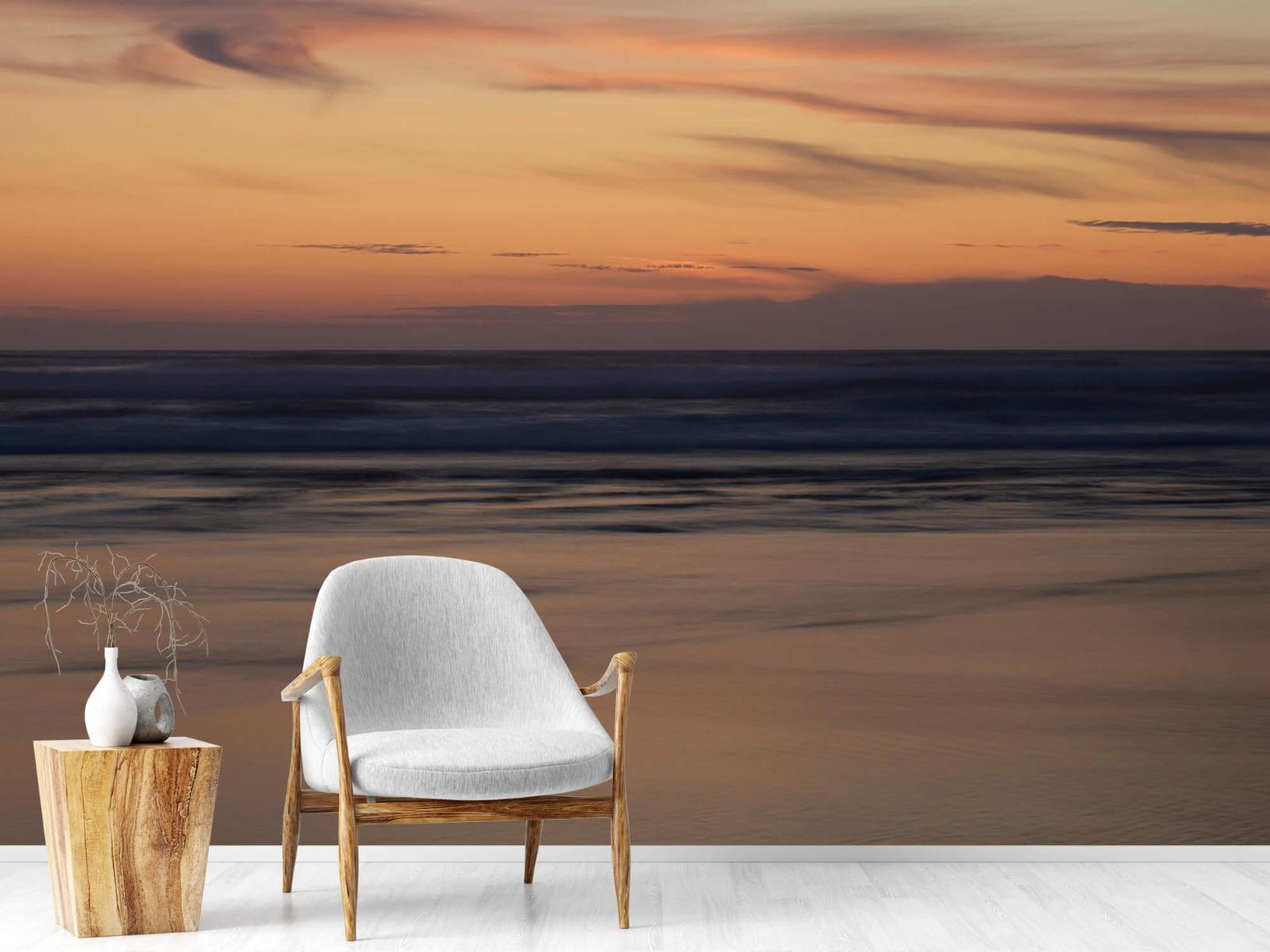 Zeeën en Oceanen - Zonsondergang aan de kust - Slaapkamer 18