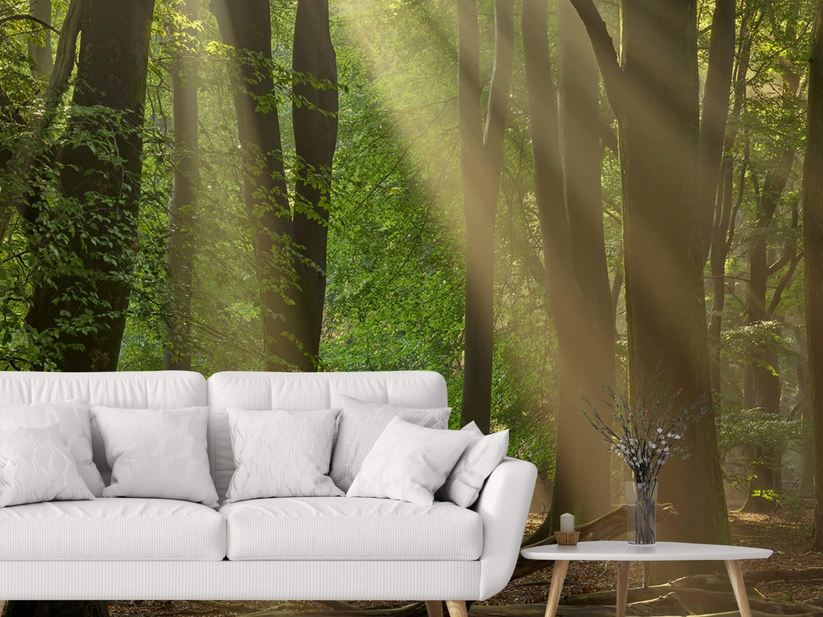 Bomen - Zonneharpen in het bos - Slaapkamer 7
