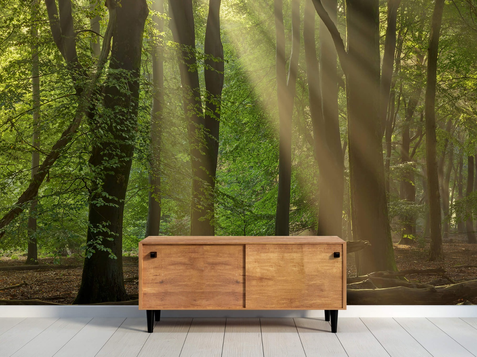 Bomen - Zonneharpen in het bos - Slaapkamer 11