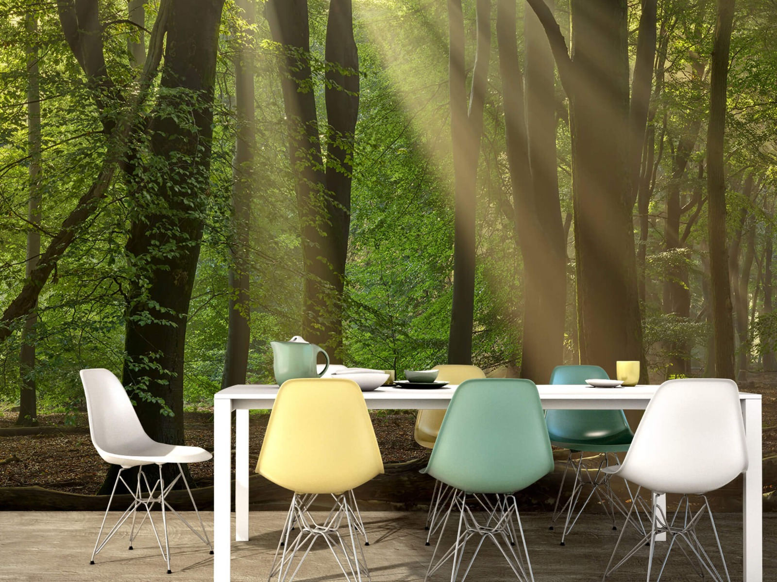 Bomen - Zonneharpen in het bos - Slaapkamer 16