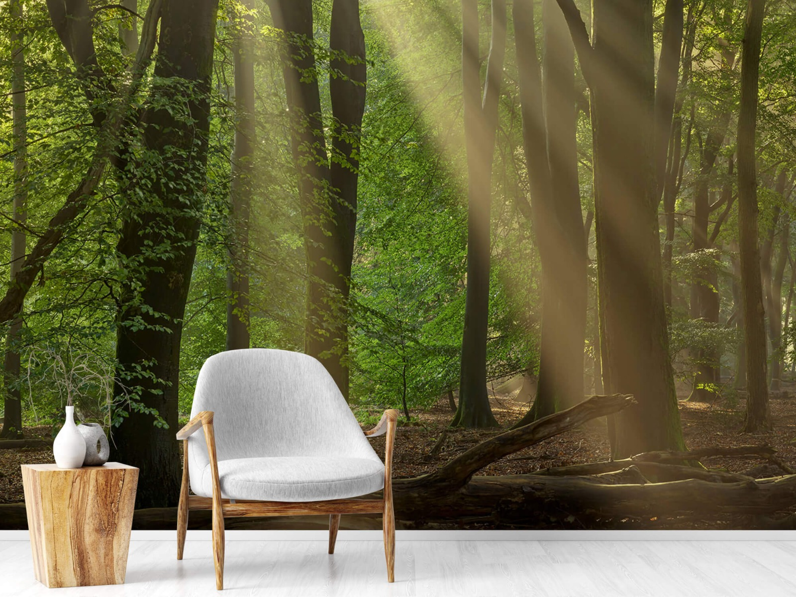 Bomen - Zonneharpen in het bos - Slaapkamer 19