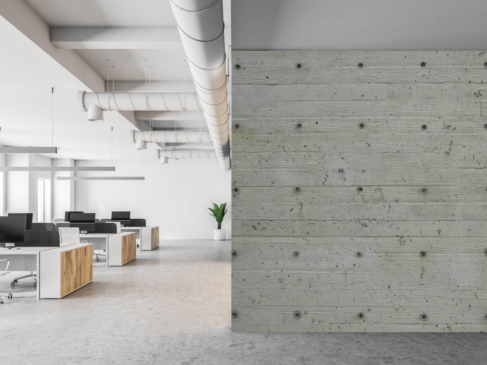 Betonlook behang - Beton met hout look - Slaapkamer 21