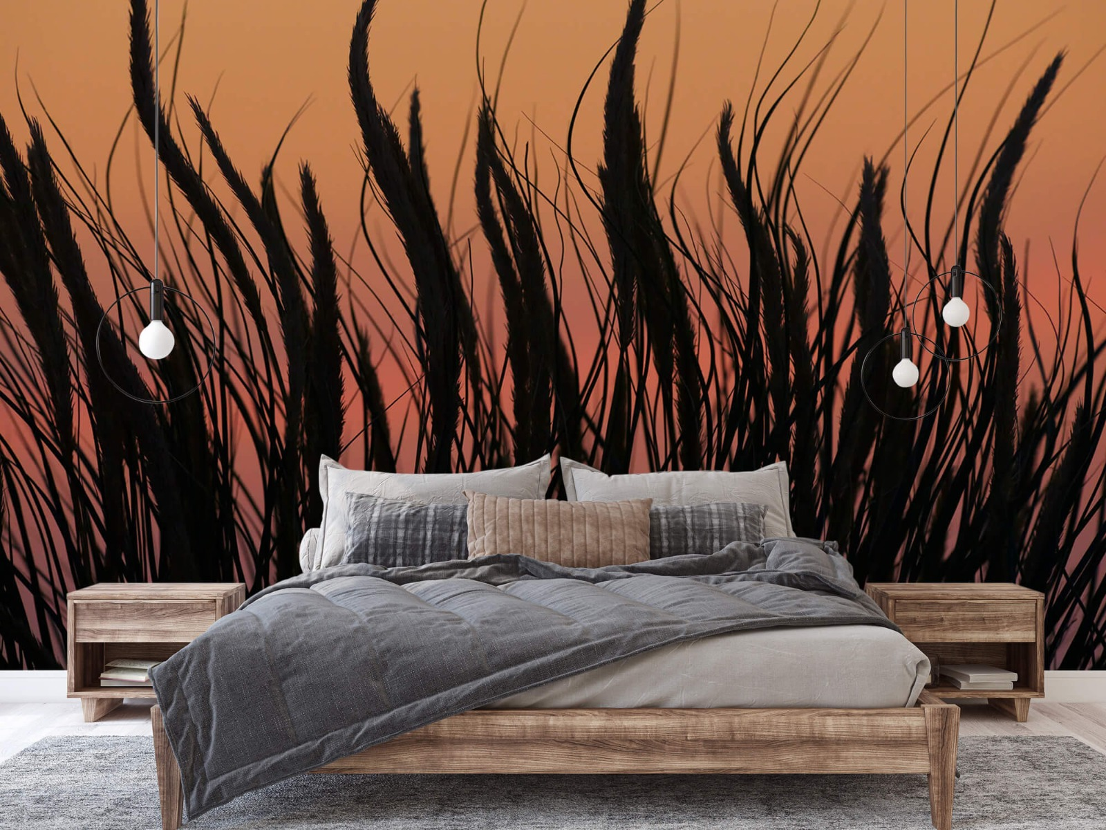 Zomer behang - Helmgras in de avond - Slaapkamer 16