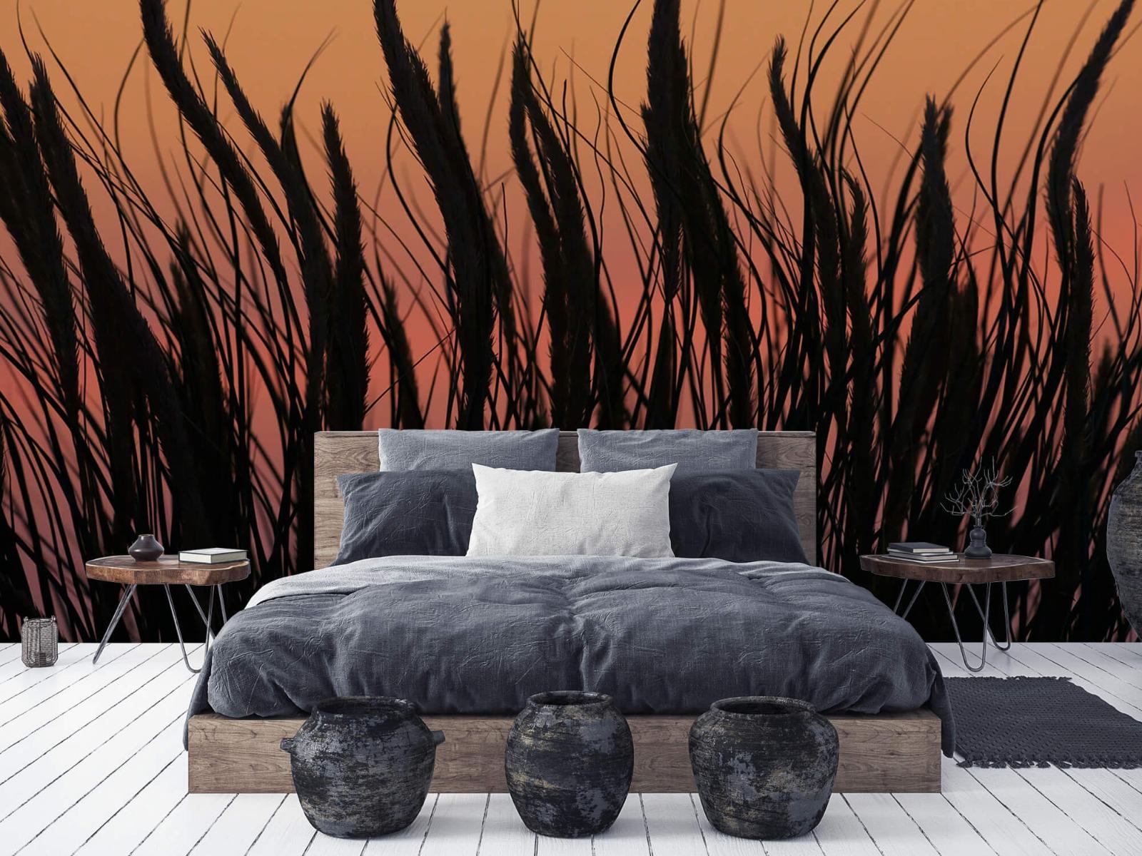Zomer behang - Helmgras in de avond - Slaapkamer 2
