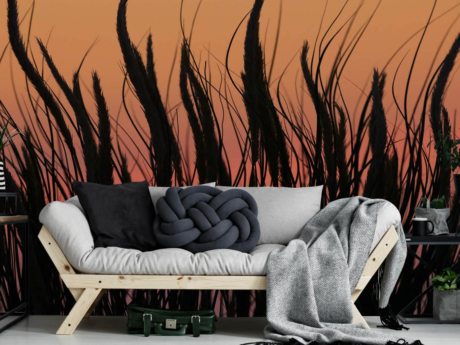Zomer behang - Helmgras in de avond - Slaapkamer 6