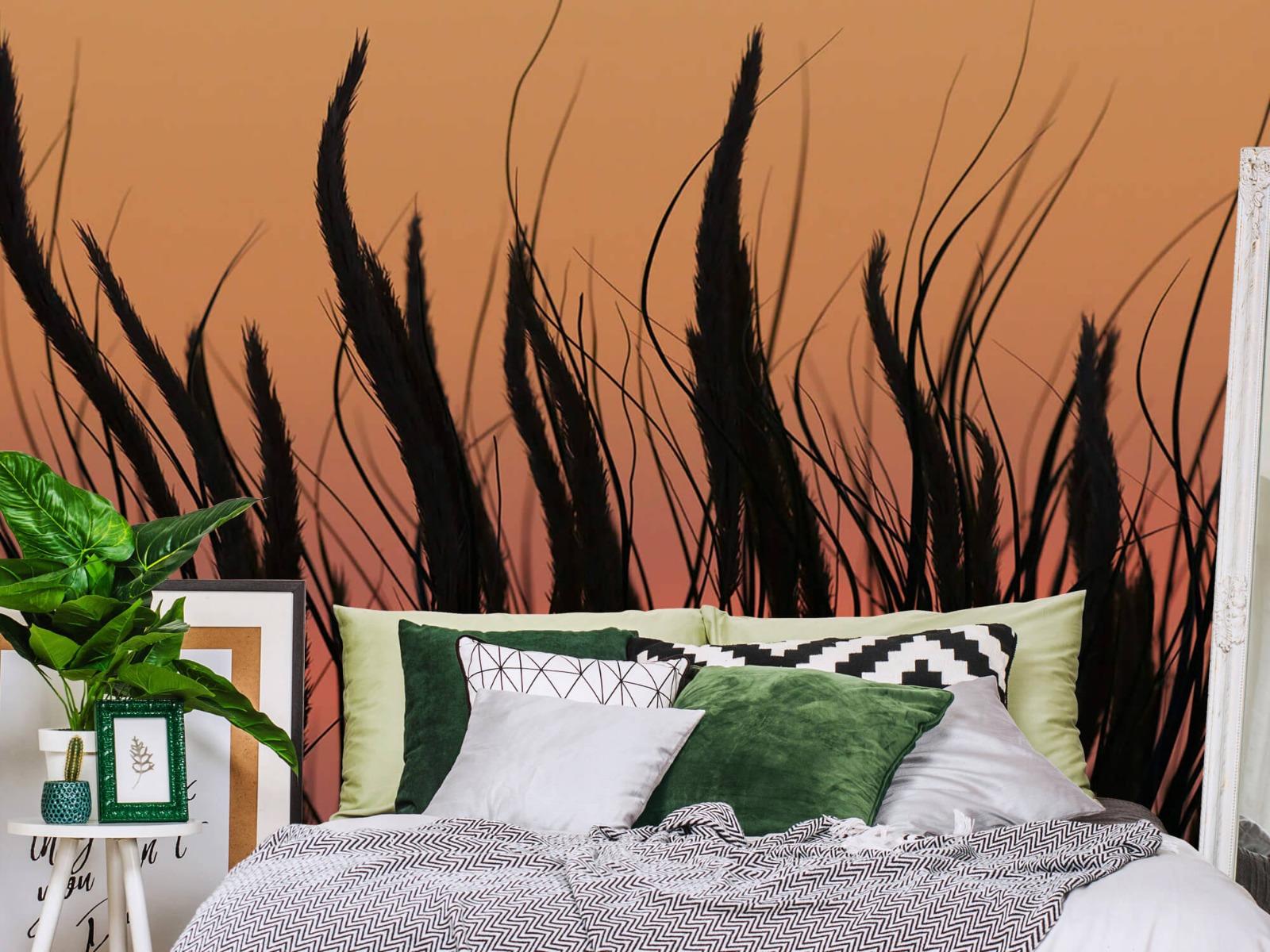 Zomer behang - Helmgras in de avond - Slaapkamer 12