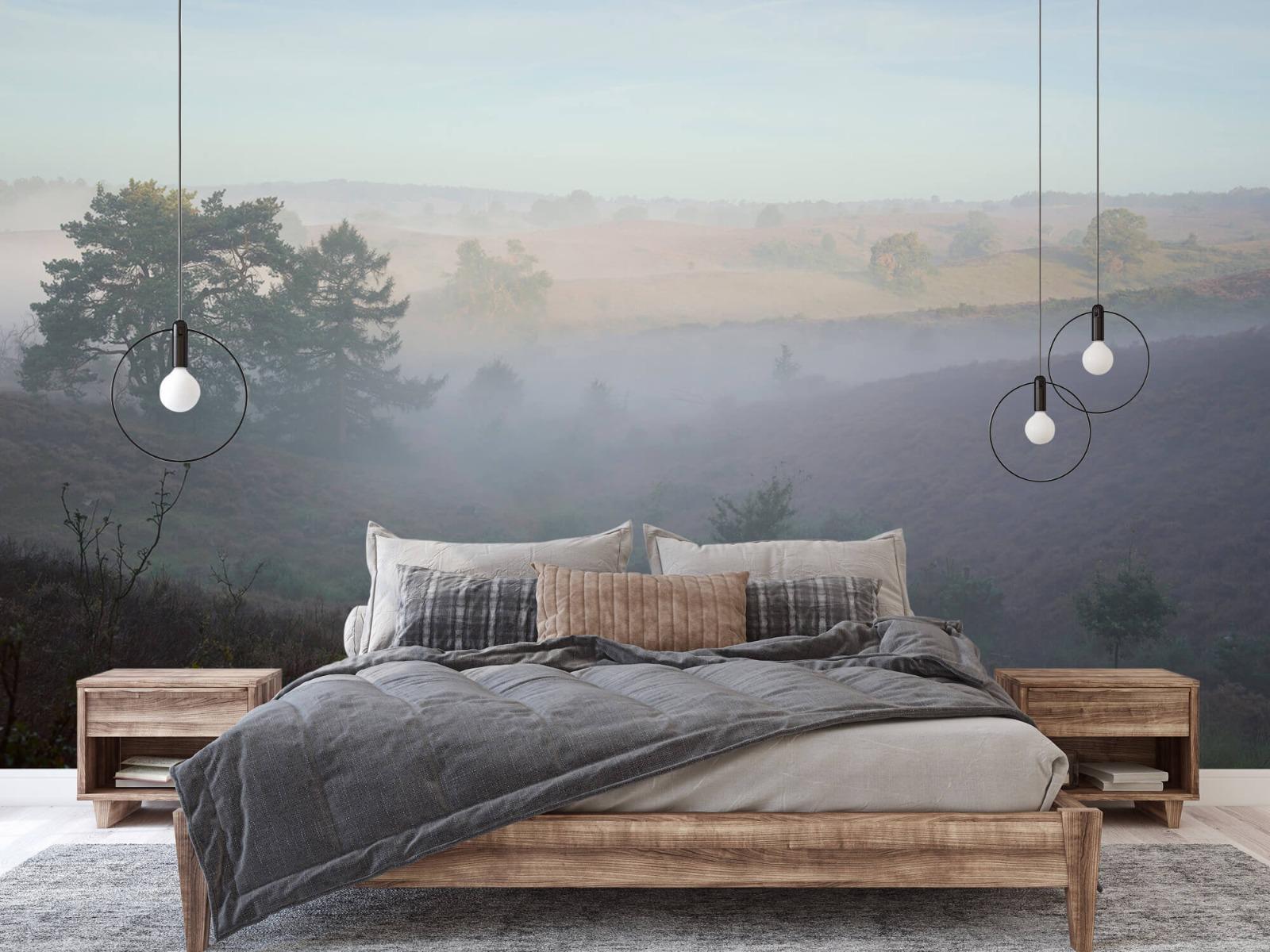 Landschap - Mist op de hei - Slaapkamer 2
