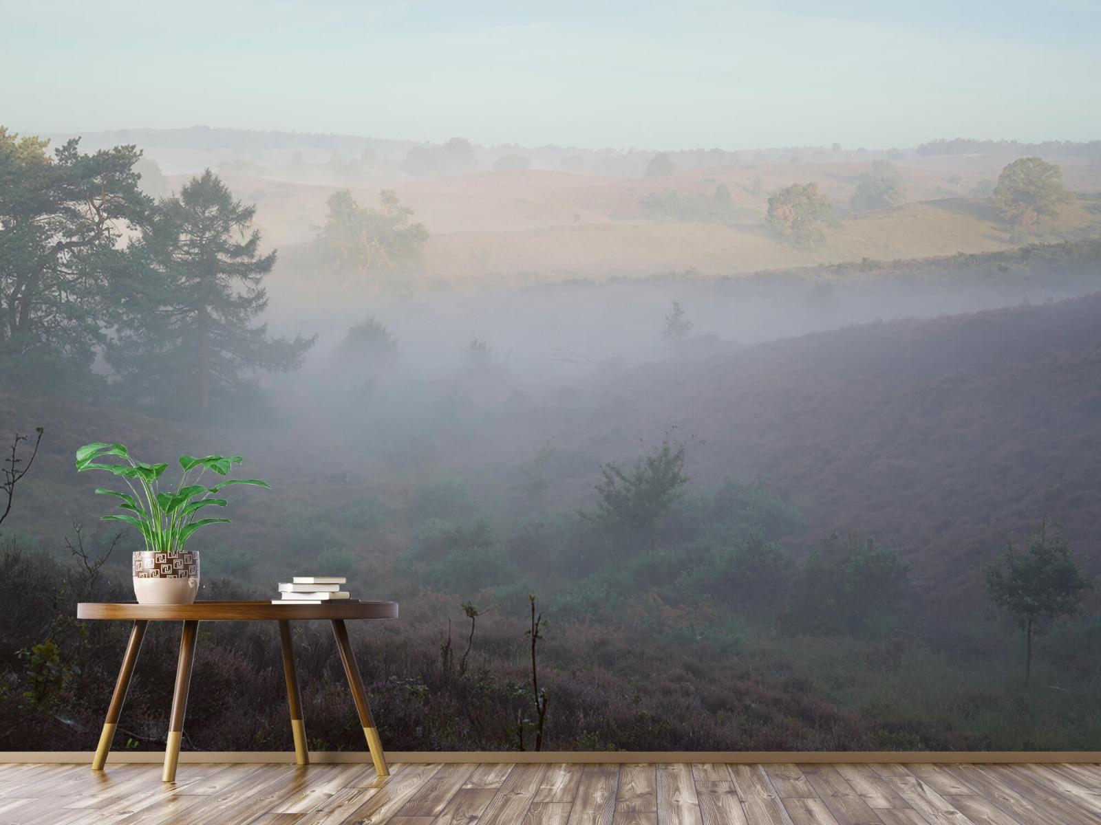 Landschap - Mist op de hei - Slaapkamer 1